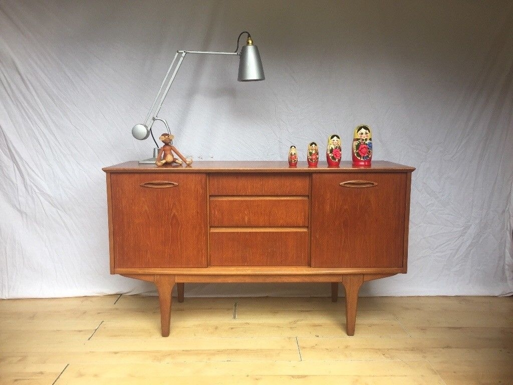 Vintage 1960S Jentique Sideboard Cabinet Mid Century Teak Compact intended for Norwood Sideboards (Image 24 of 30)