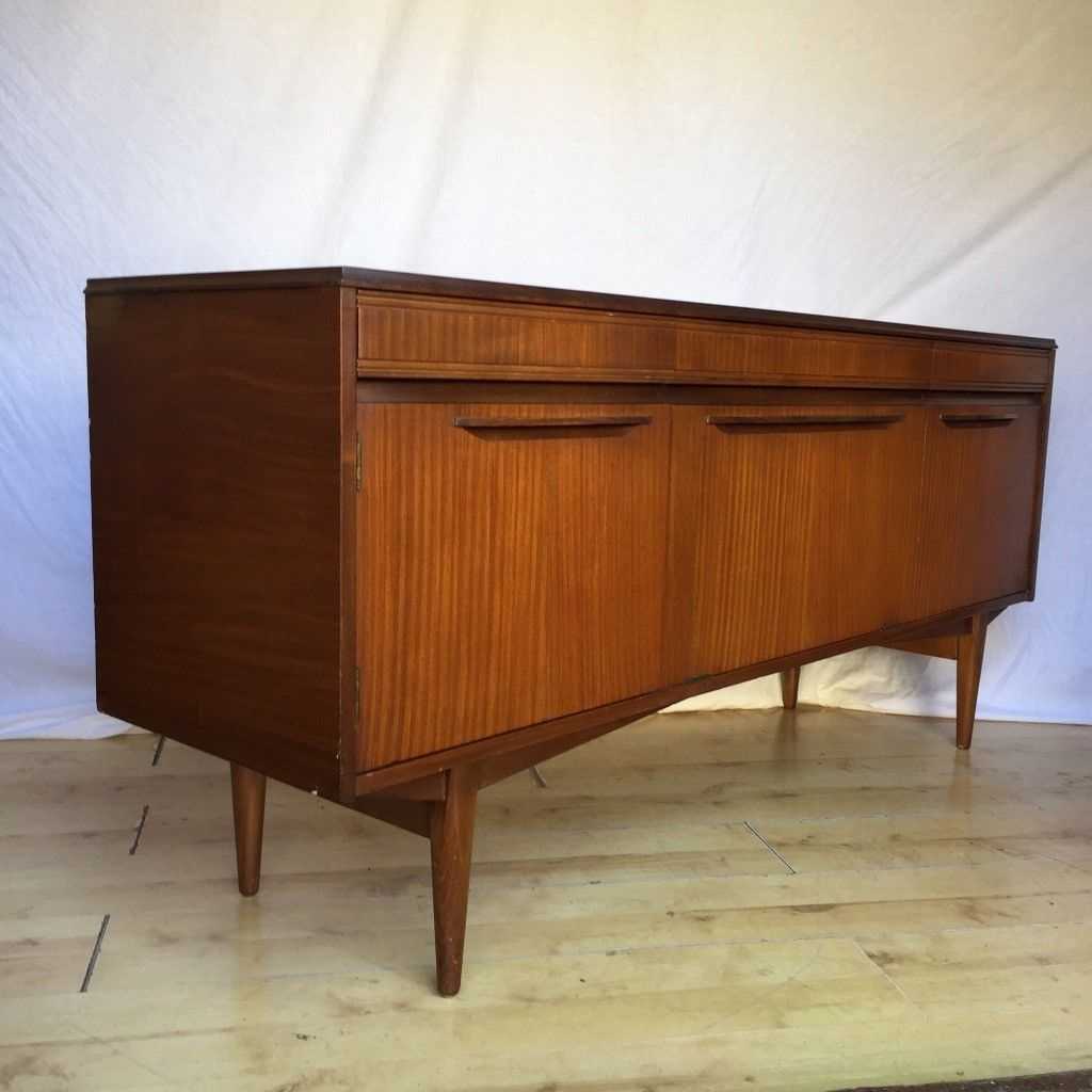 Vintage 1960S Teak Mid Century Rhf Sideboard Cupboard | In Norwood inside Norwood Sideboards (Image 26 of 30)