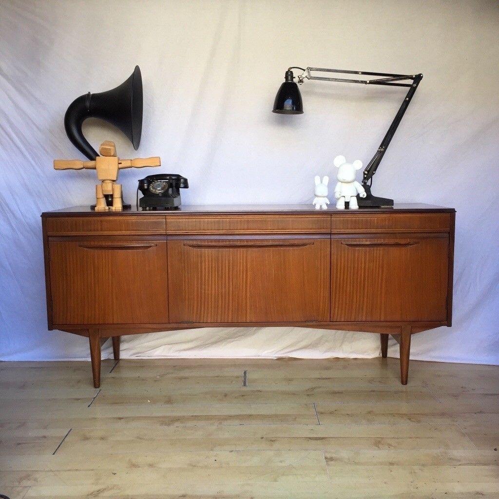 Vintage 1960S Teak Mid Century Rhf Sideboard Cupboard | In Norwood pertaining to Norwood Sideboards (Image 27 of 30)