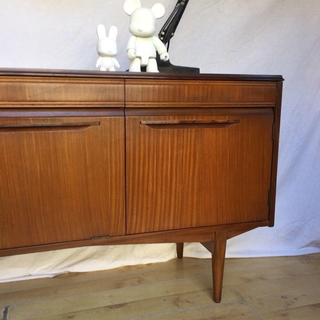 Vintage 1960S Teak Mid Century Rhf Sideboard Cupboard | In Norwood regarding Norwood Sideboards (Image 28 of 30)