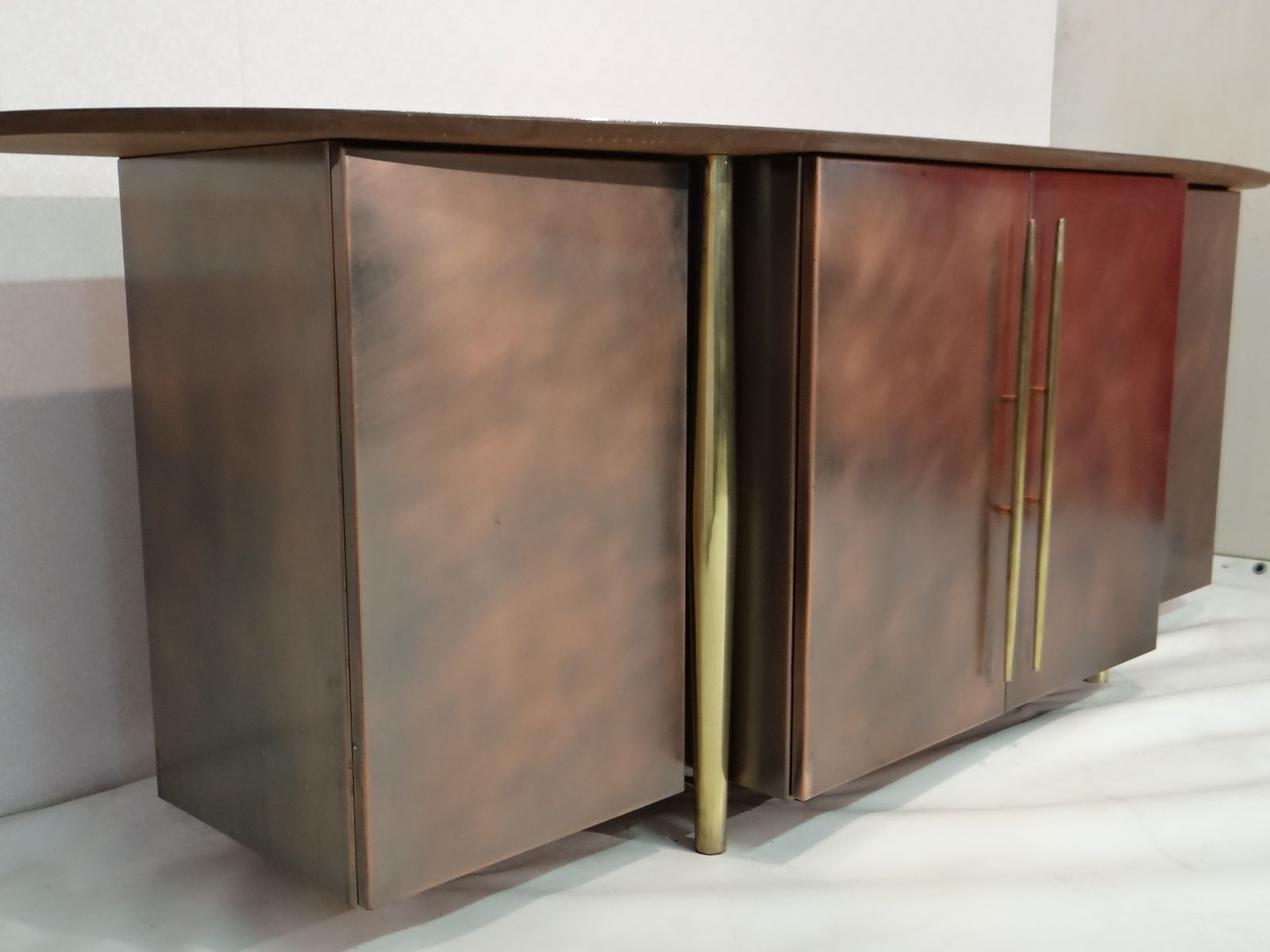 Vintage Brass Sideboard From Belgo Chrom For Sale At Pamono pertaining to Aged Brass Sideboards (Image 28 of 30)