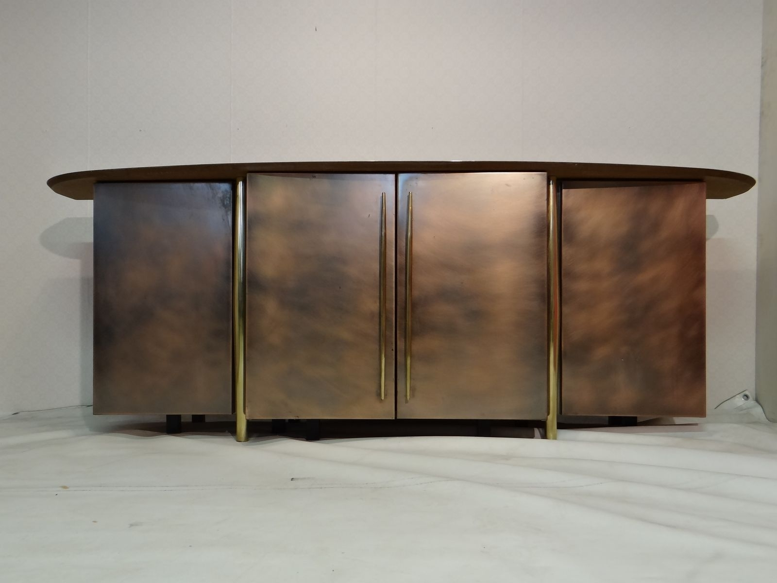 Vintage Brass Sideboard From Belgo Chrom For Sale At Pamono within Aged Brass Sideboards (Image 29 of 30)