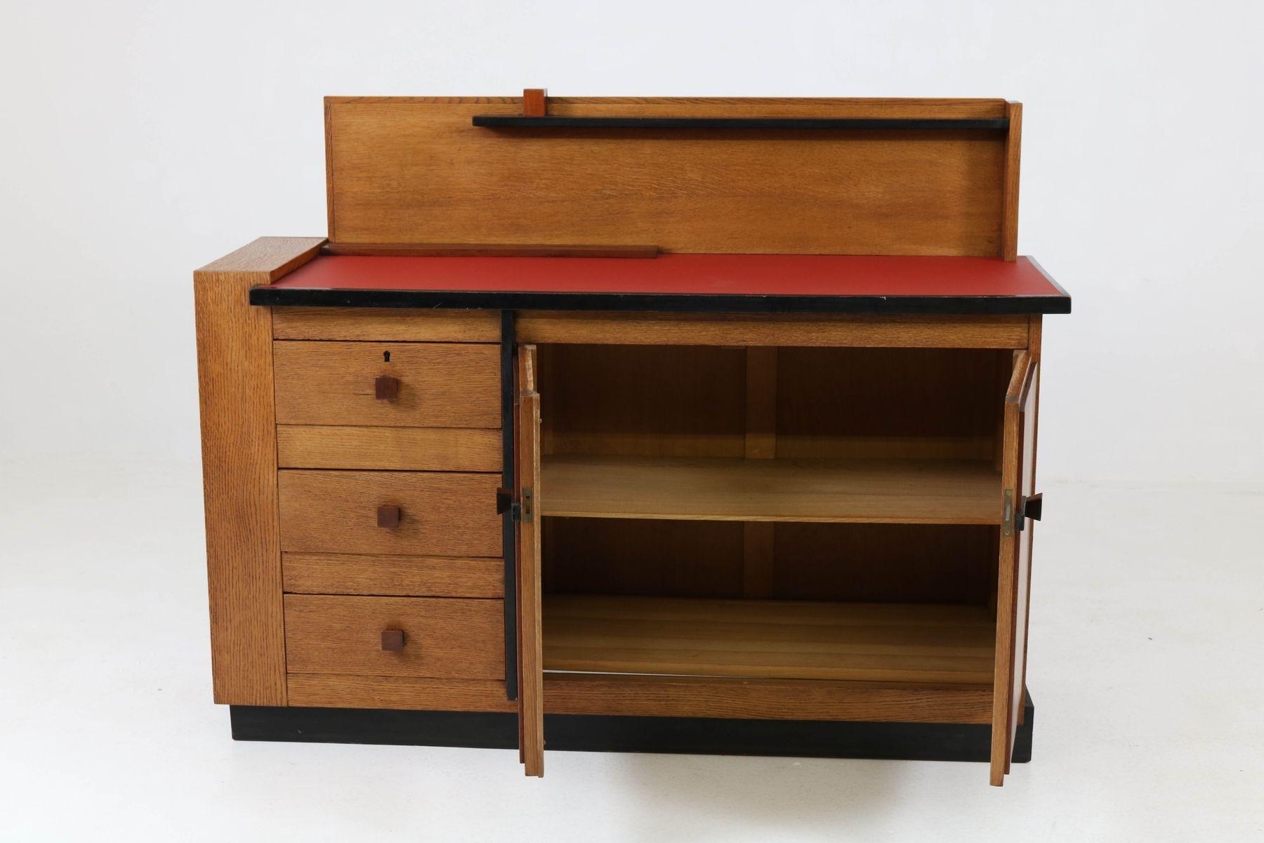 Vintage Oak Sideboardjan Brunott, 1920S For Sale At Pamono throughout Vintage 8 Glass Sideboards (Image 25 of 30)