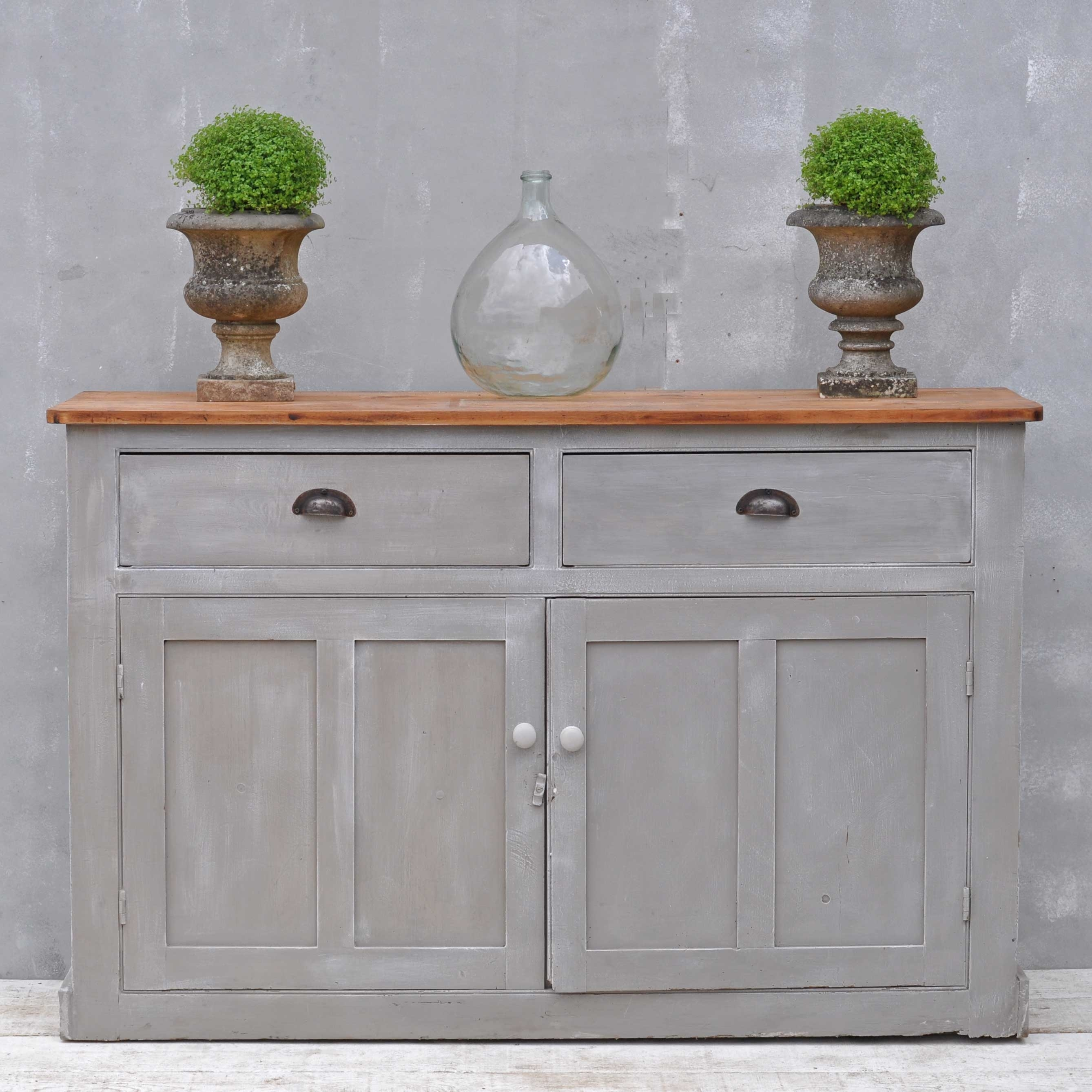 Vintage Sideboard - Hand Painted Victorian Cupboard - Home Barn Vintage in Vintage 8 Glass Sideboards (Image 27 of 30)