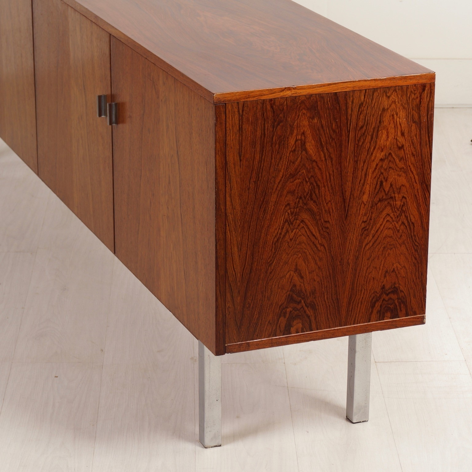 Vintage Sideboard Made Of Rosewood, 1960S - Ztijl Design in Vintage Brown Textured Sideboards (Image 24 of 30)