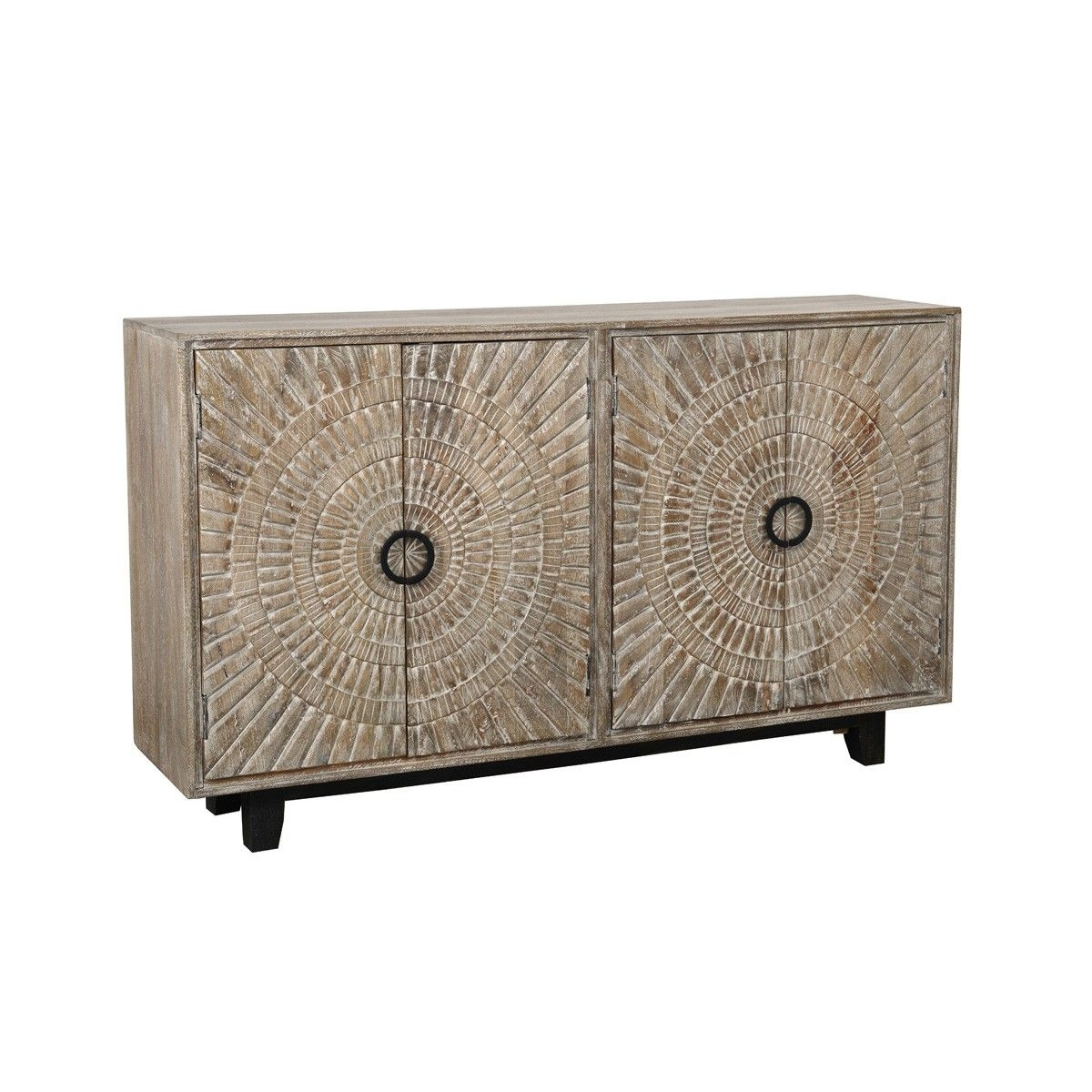 Vivienne 4Dr Sideboard - Cabinets - Furniture - Products throughout Mid Burnt Oak 71 Inch Sideboards (Image 28 of 30)