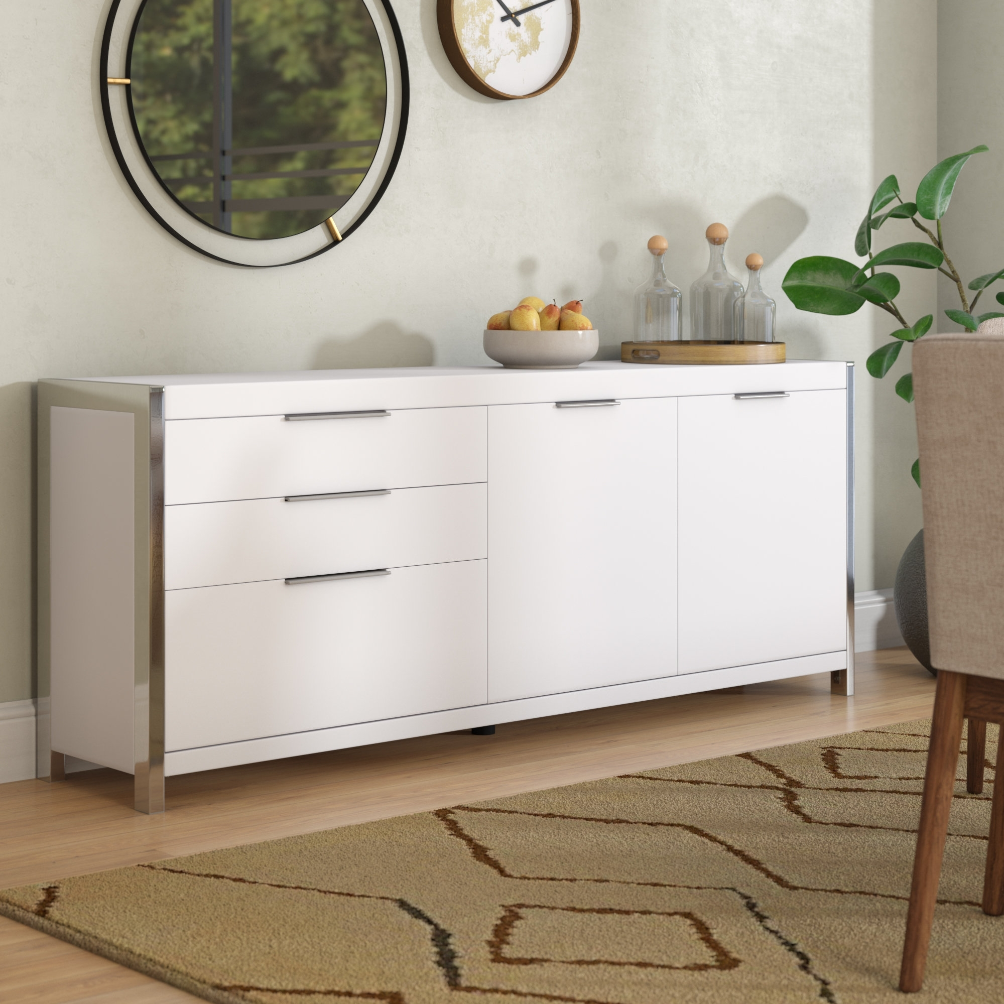 Wade Logan Damian Sideboard & Reviews | Wayfair throughout Logan Sideboards (Image 28 of 30)