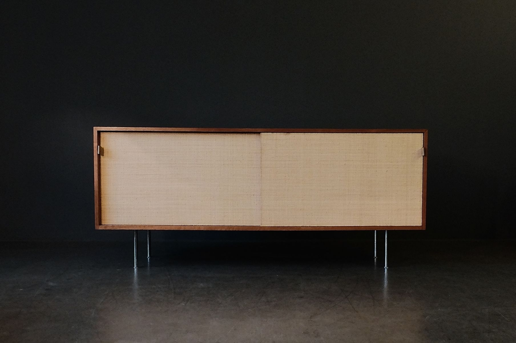 Walnut & Seagrass Sideboardflorence Knoll For Knoll, 1960S For with regard to Girard 4 Door Sideboards (Image 30 of 30)