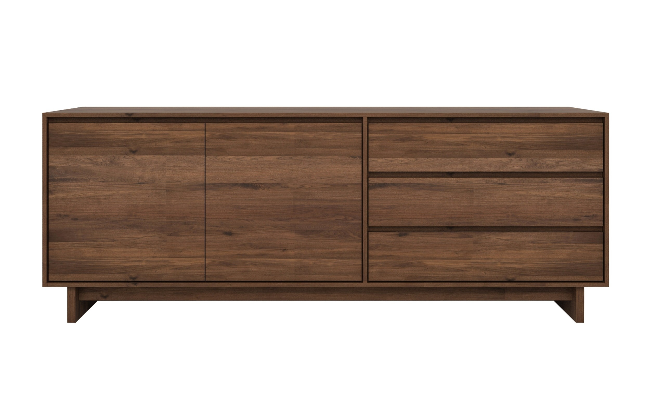 Wave Walnut Sideboard | Viesso Intended For Walnut Finish 4 Door Sideboards (Photo 10 of 30)