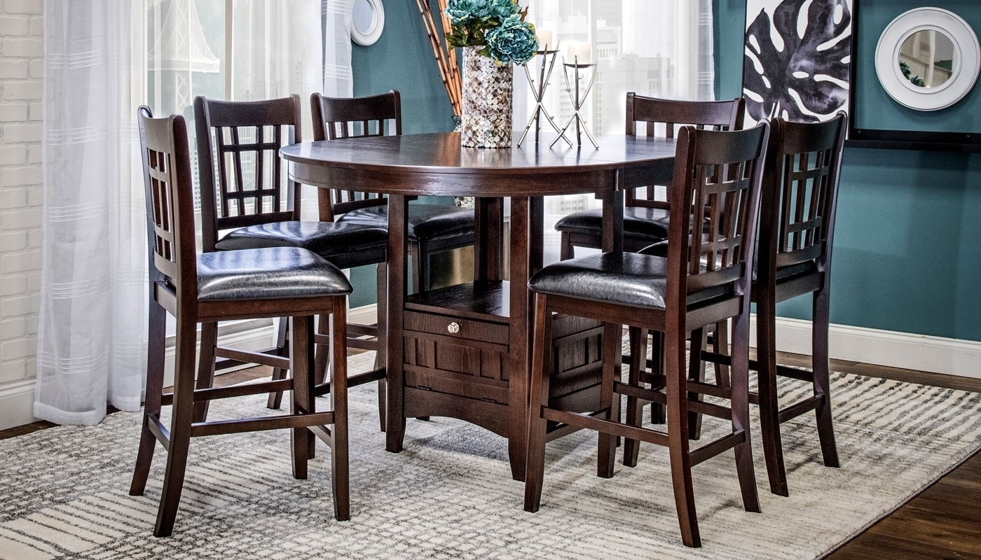 Waylon Ii 5-Piece Dining Collection - Home Zone Furniture | Dining Room with regard to Waylon 3 Piece Power Reclining Sectionals (Image 25 of 30)