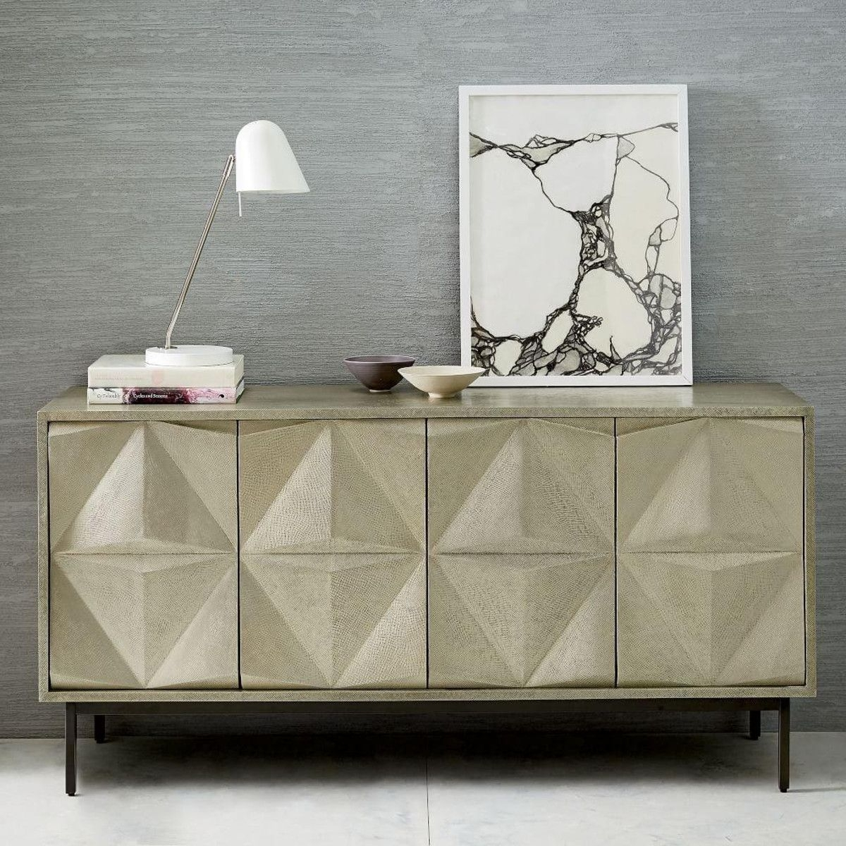 We Took The Architectural Design Of Our Geo Console And Gave It A throughout Aged Brass Sideboards (Image 30 of 30)