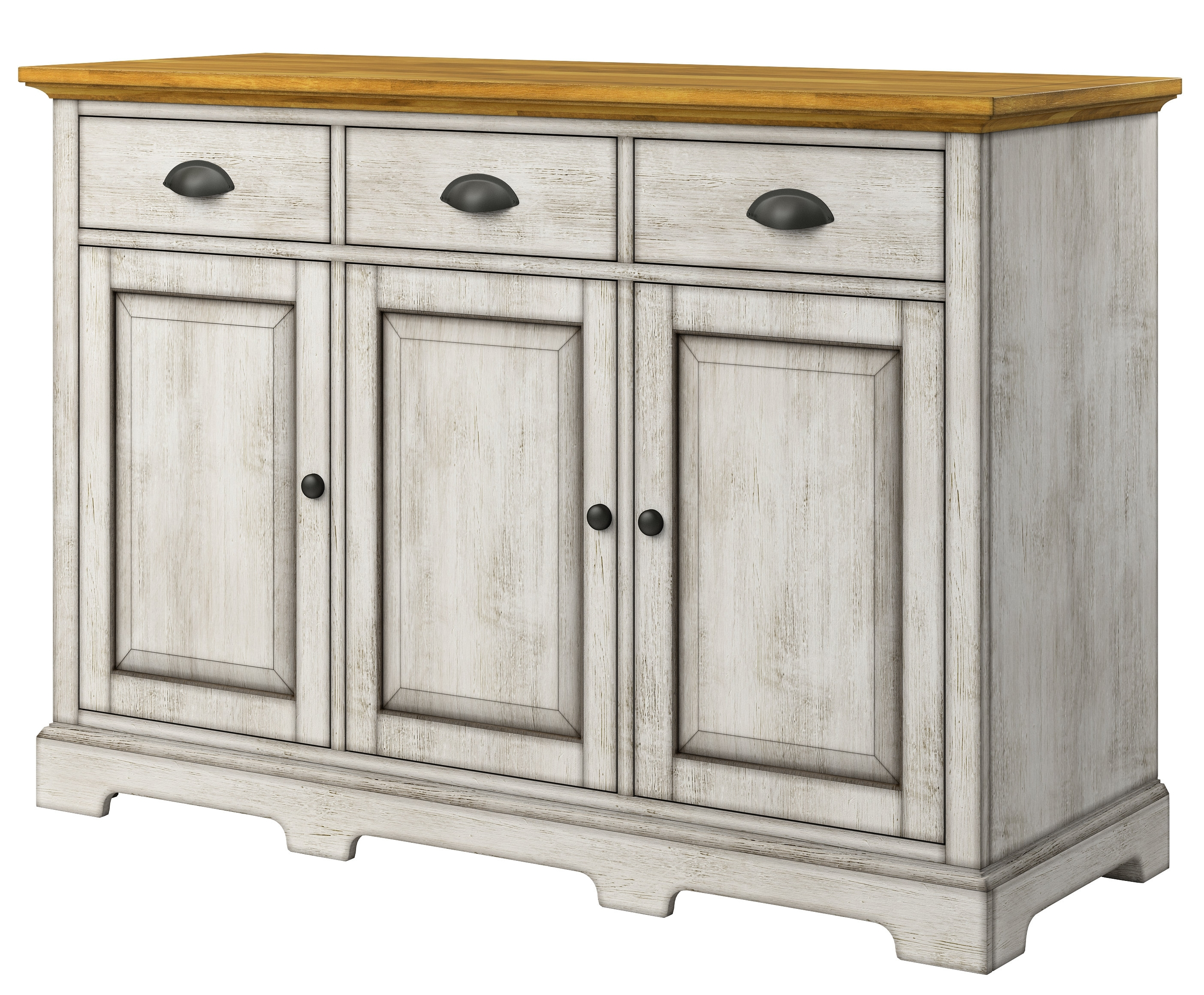 White Sideboards & Buffets You'll Love | Wayfair within Solar Refinement Sideboards (Image 29 of 30)