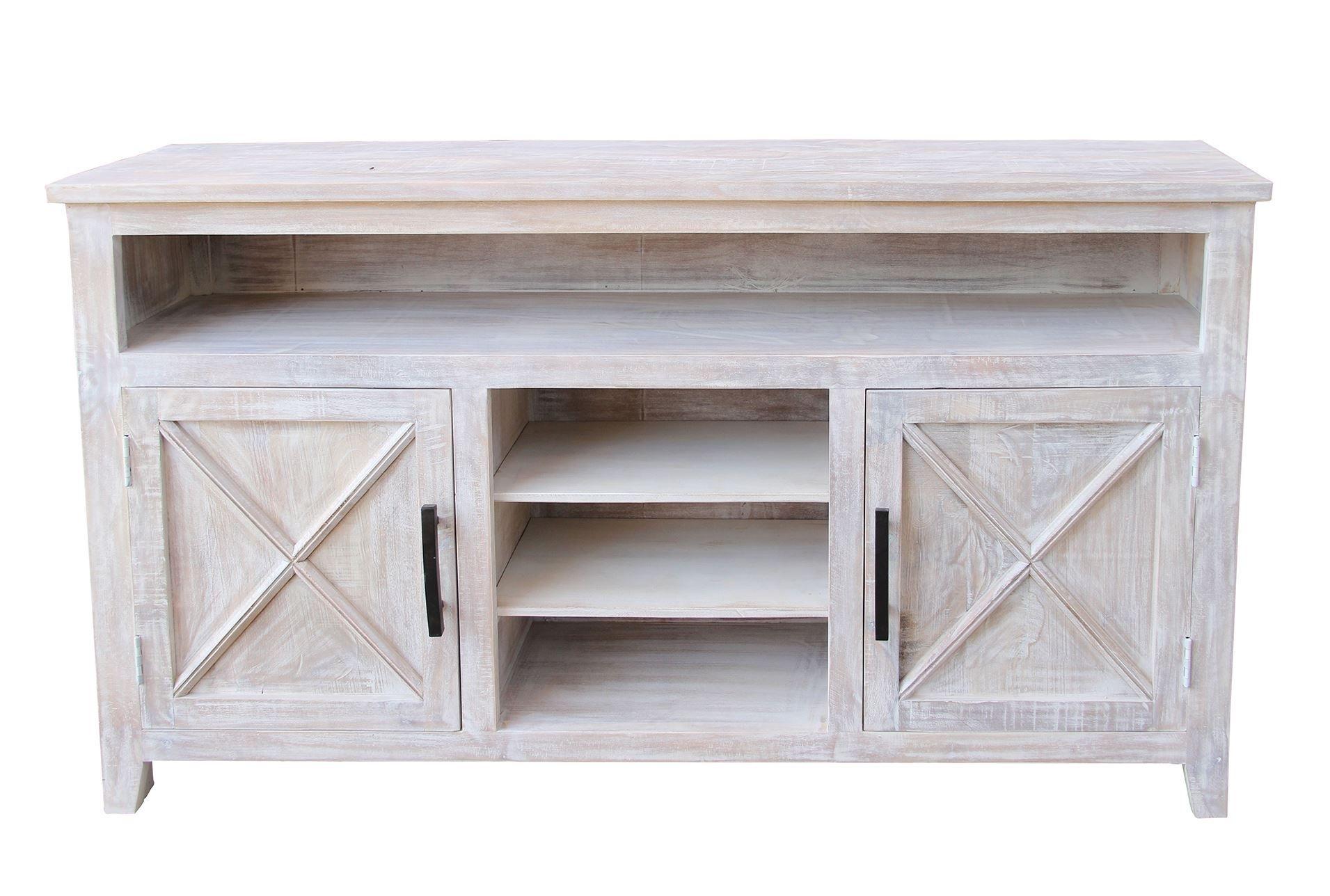 White Wash 2 Door Sideboard | Doors In White Wash 2 Door Sideboards (Gallery 10 of 30)