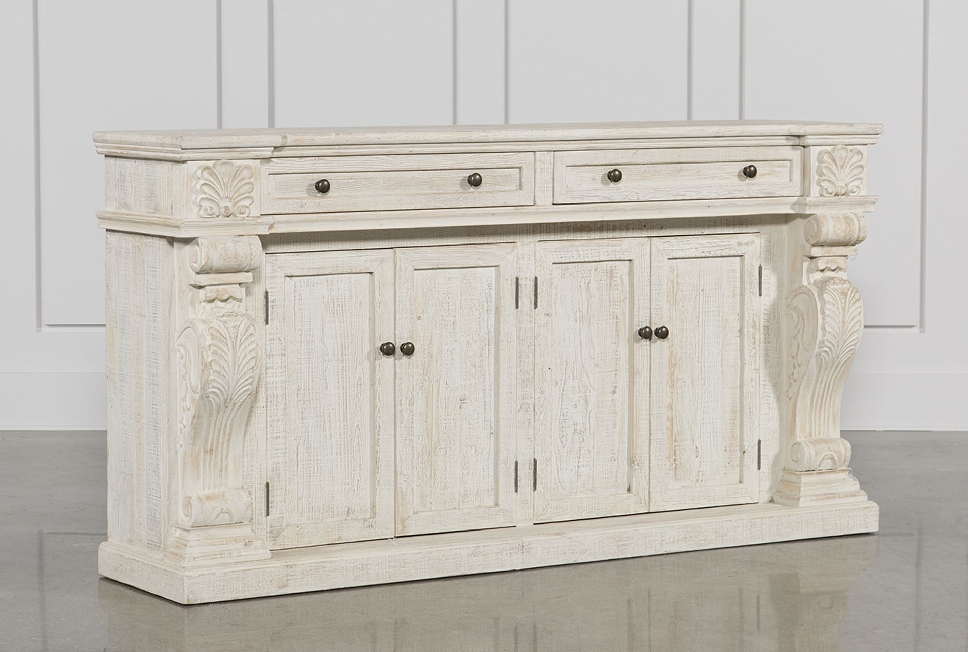 White Wash 2 Drawer/4 Door Sideboard | Drawers, Doors And Paint For Natural South Pine Sideboards (Photo 16 of 30)