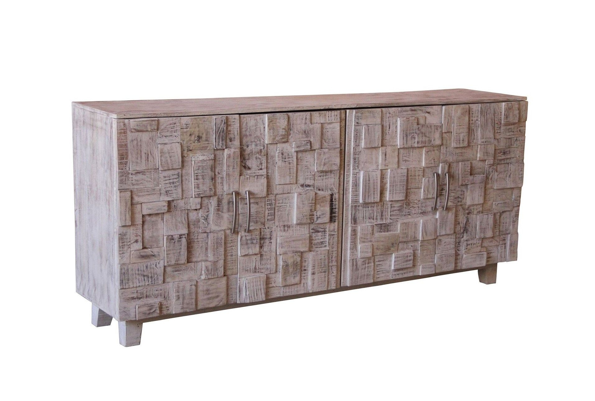 White Wash 4 Door Sideboard | Pinterest | Doors For Corrugated Natural 4 Drawer Sideboards (View 30 of 30)