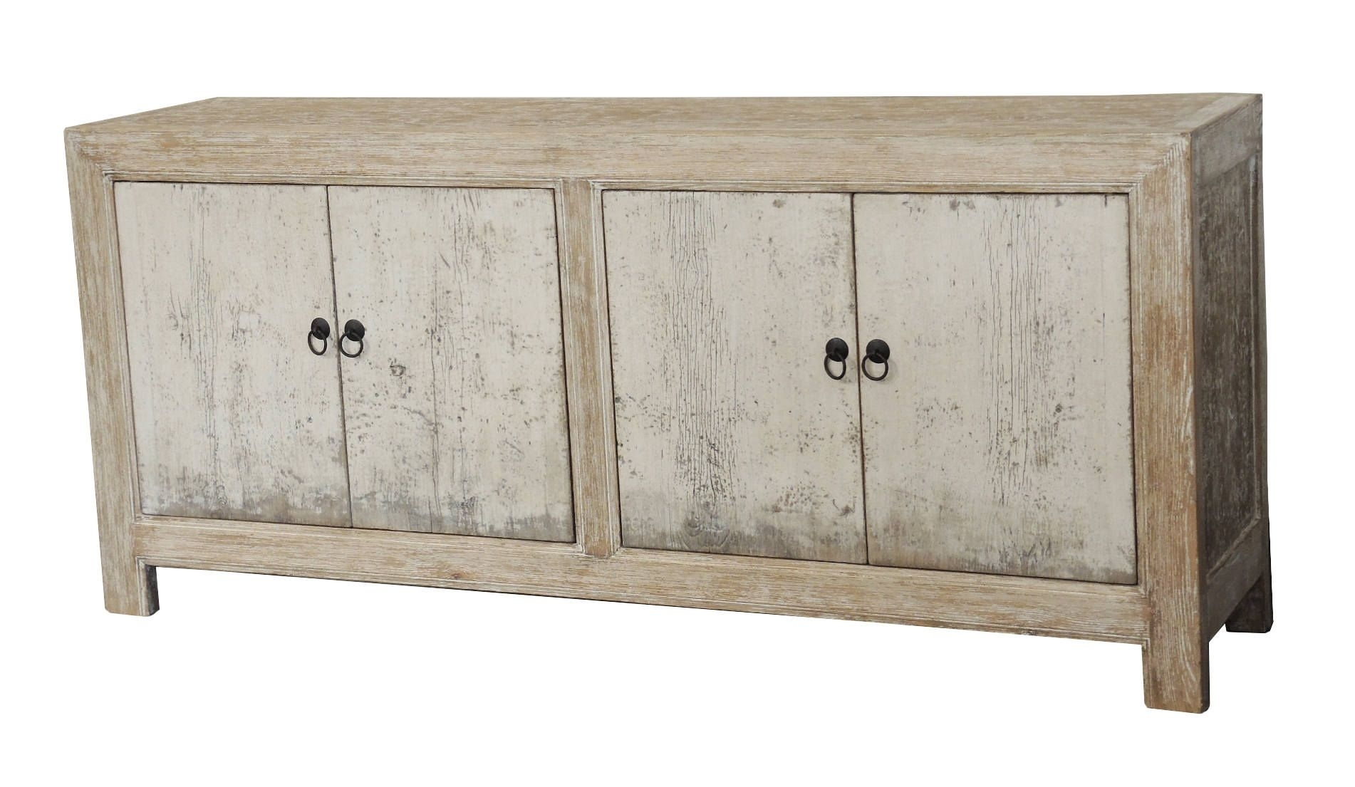 White Wash Distressed 4 Door Sideboard From Terra Nova Designs inside White Wash 4-Door Sideboards (Image 26 of 30)