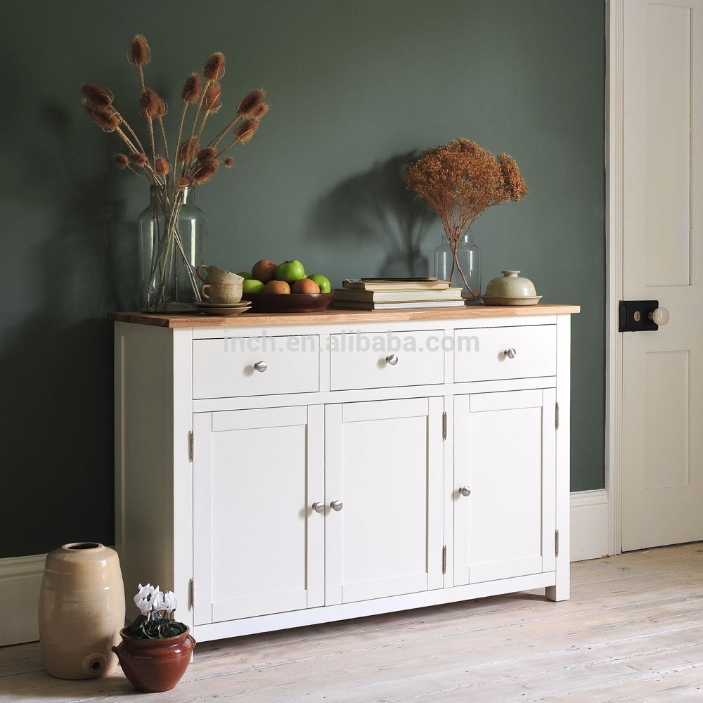White Wash Sideboard, White Wash Sideboard Suppliers And Regarding 4 Door 3 Drawer White Wash Sideboards (View 6 of 30)