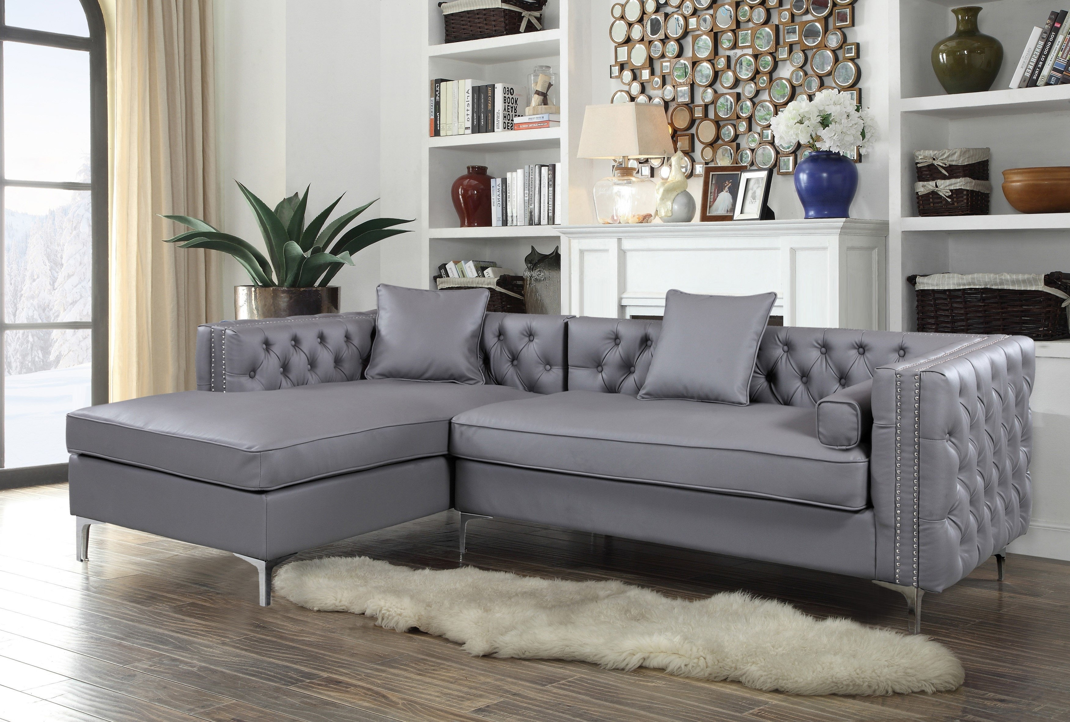 Willa Arlo Interiors Sayali Contemporary Sectional & Reviews | Wayfair Intended For Marissa Ii 3 Piece Sectionals (Photo 21 of 30)