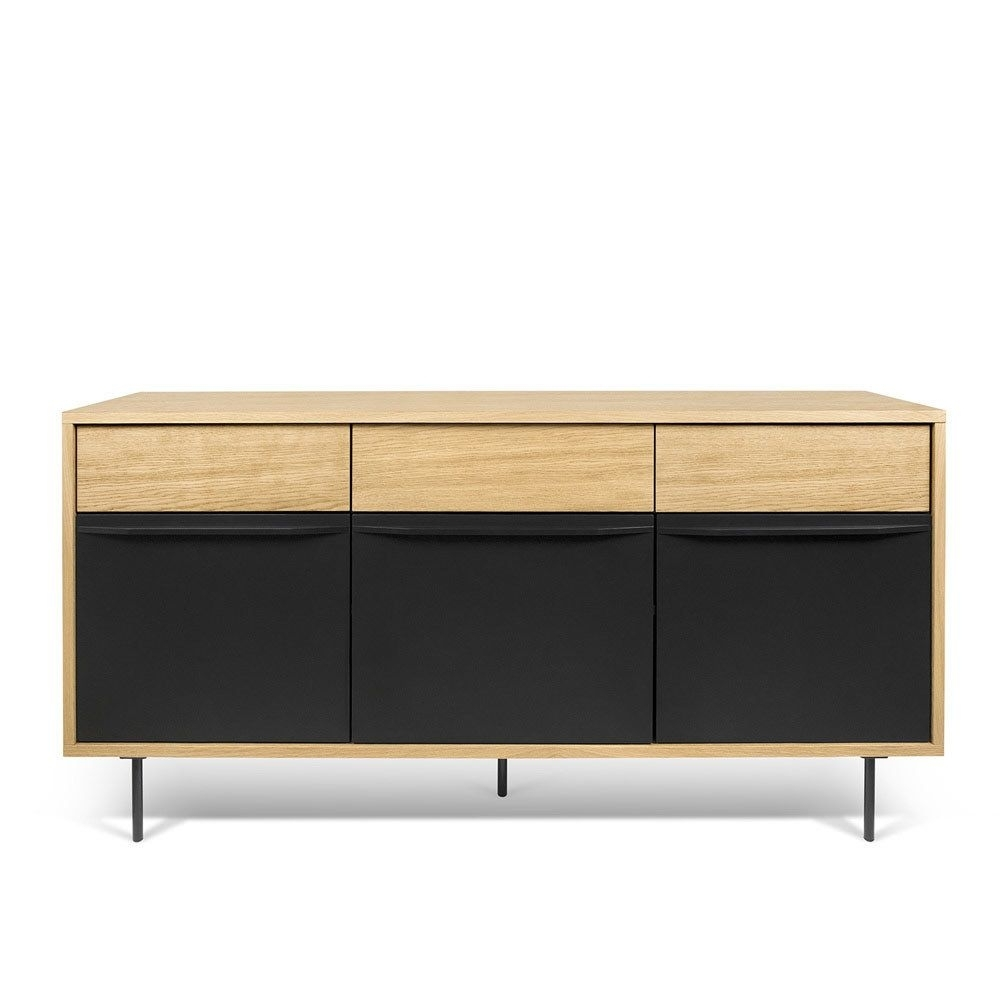 Wind Bookcase | Sideboard Buffet, Black Wood And Credenza Inside Wyatt Sideboards (Photo 15 of 30)