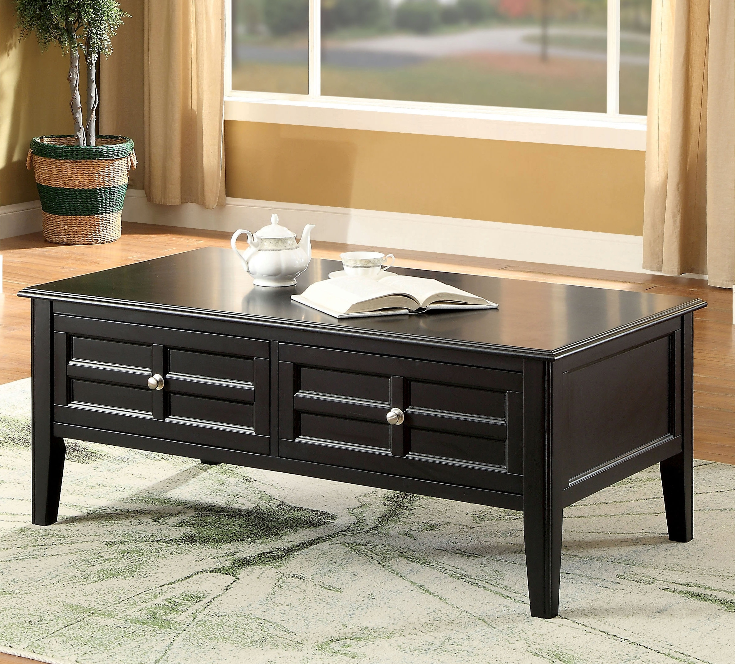 Winston Porter Lochleven Transitional Coffee Table With Storage Pertaining To Leven Wine Sideboards (Photo 15 of 30)