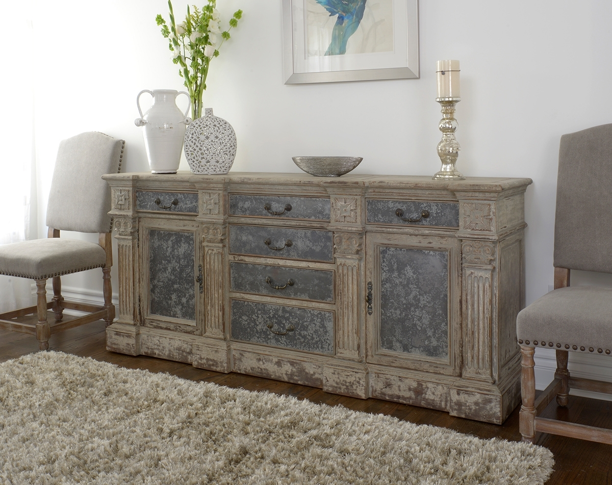 Wood Distressed Sideboard : Rocket Uncle   Easy Diy Distressed Sideboard Throughout White Wash 4 Door Sideboards (Photo 30 of 30)