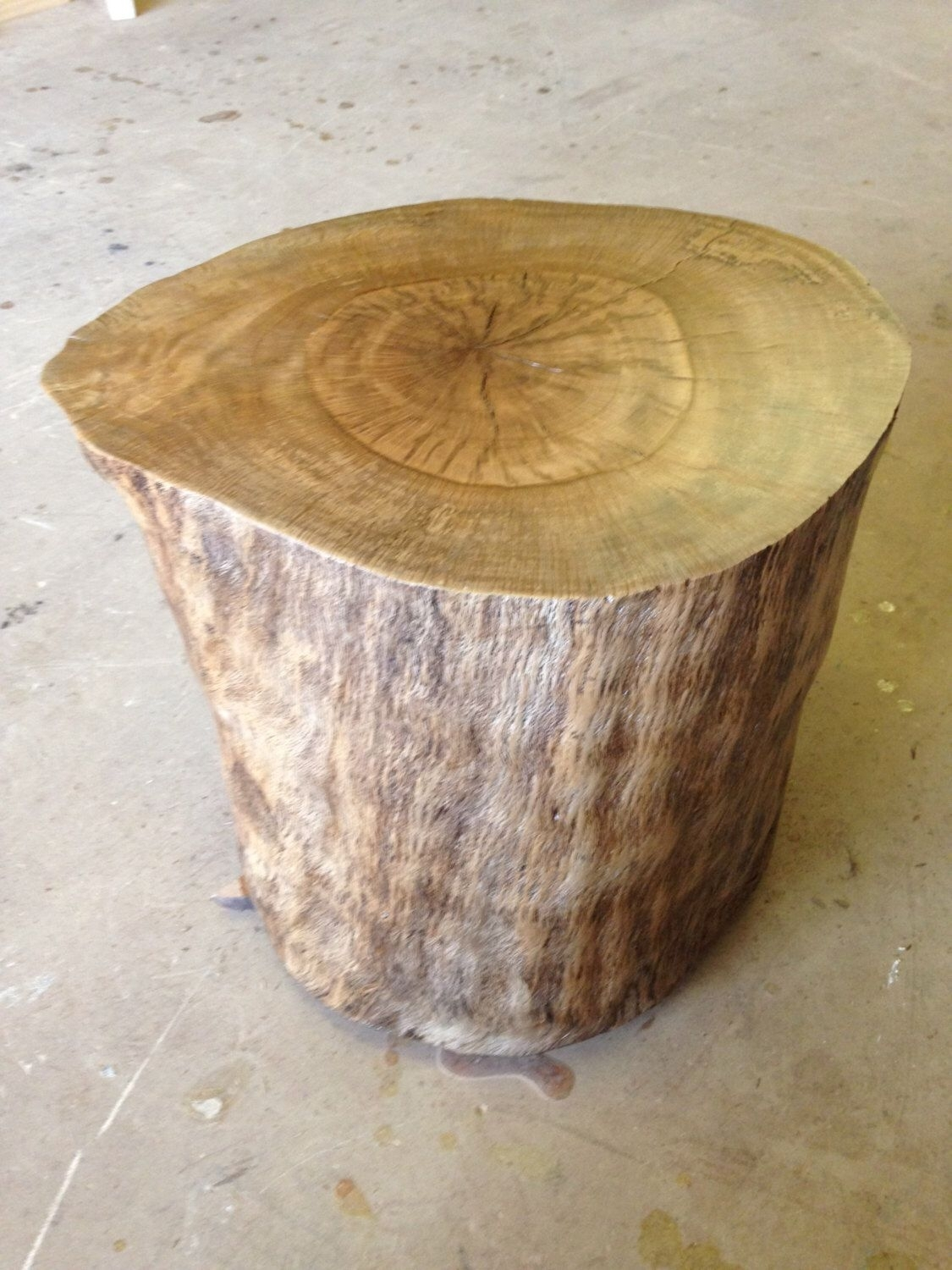 Wood Stump - Wood Stump Side Table - Wood Coffee Table - Tree Stump for Moraga Live Edge 8 Door Sideboards (Image 30 of 30)