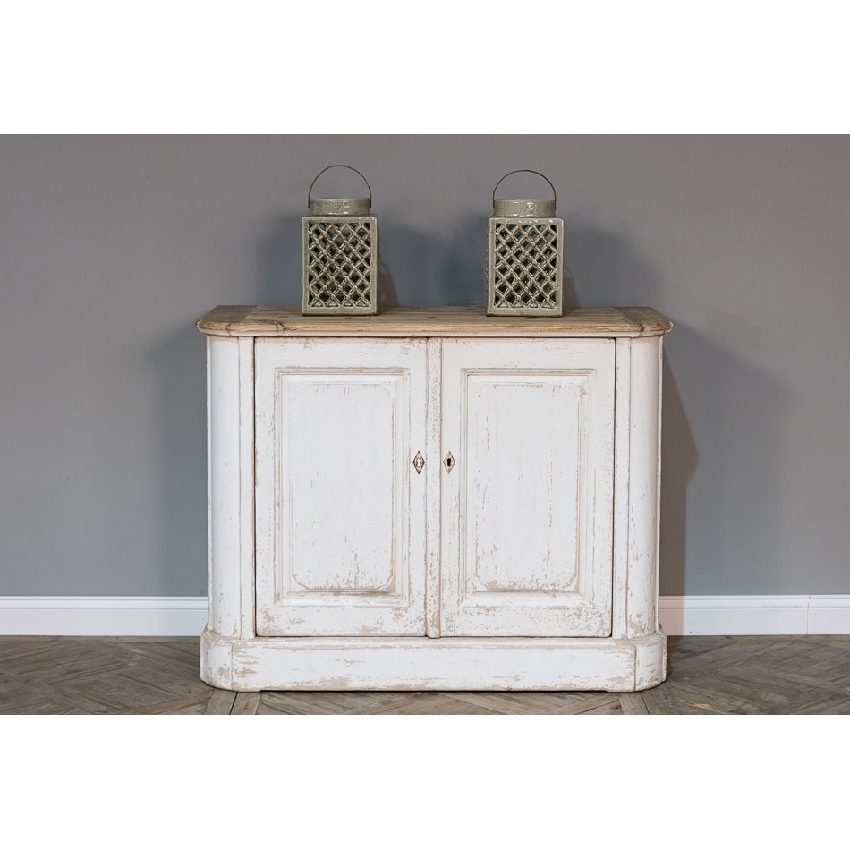 Wood Top Cottage Chic Sideboard | Belle Escape with regard to 2-Door White Wash Sideboards (Image 30 of 30)
