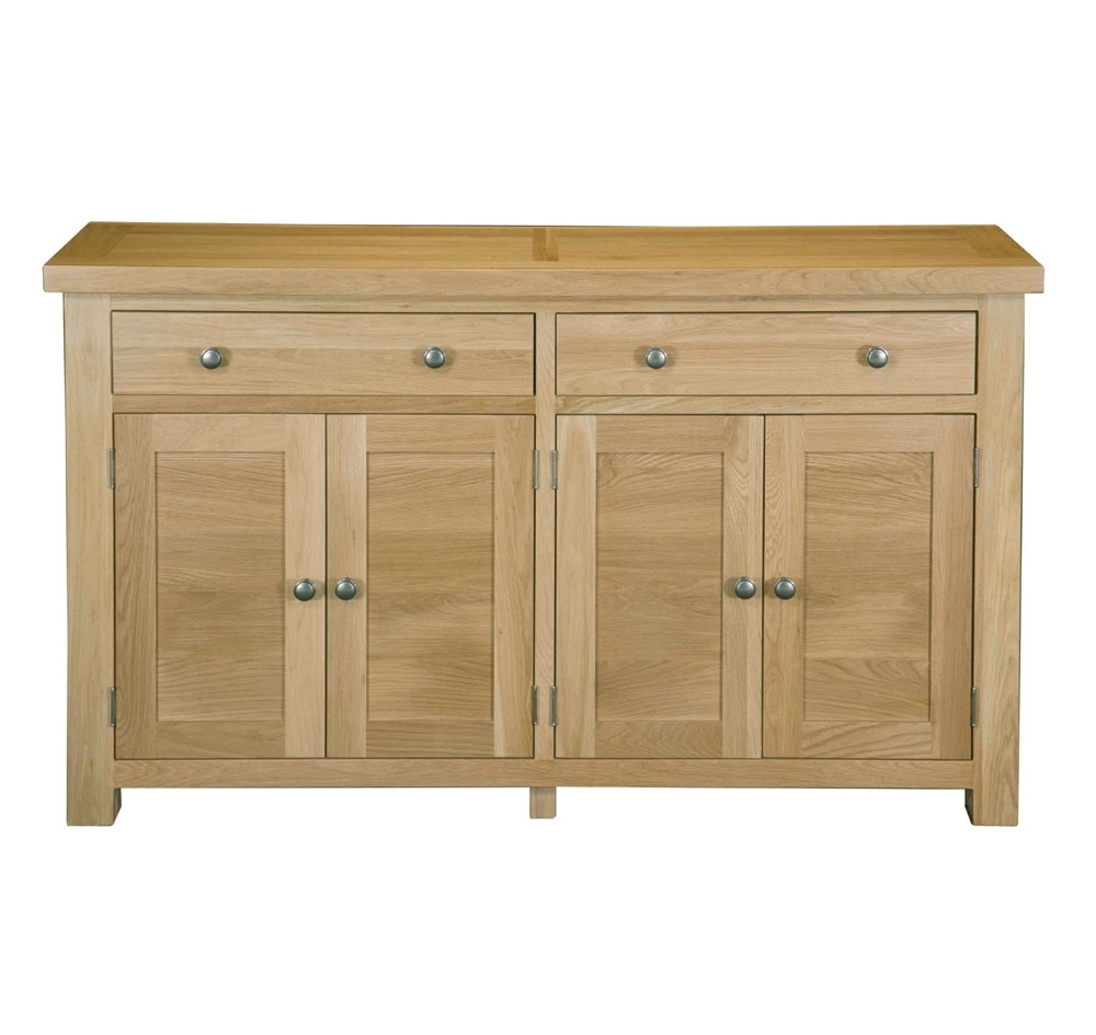 Wr249 Woodstock Oak 2 Drawer Large Sideboard   Woodstock Oak In Charcoal Finish 4 Door Jumbo Sideboards (Photo 12 of 30)
