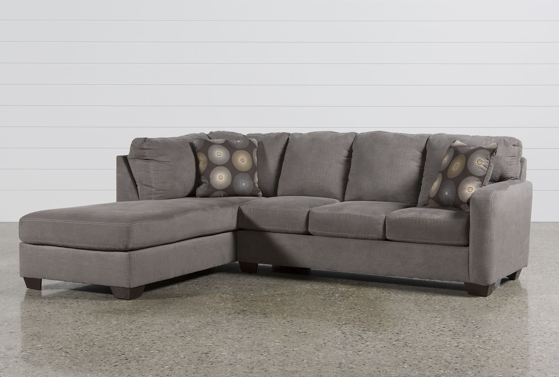 Zella Charcoal 2 Piece Sectional W/laf Chaise - Signature pertaining to Aspen 2 Piece Sleeper Sectionals With Laf Chaise (Image 30 of 30)