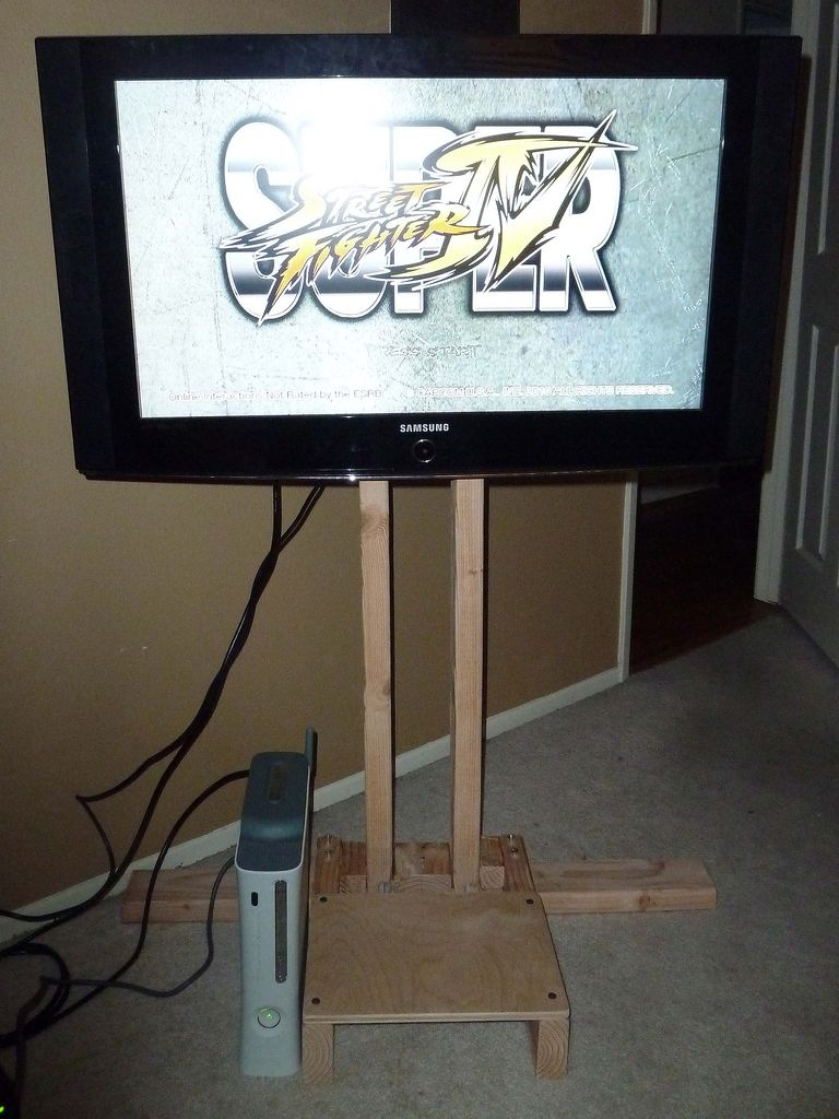 $10 Lcd Tv Floor Stand: 4 Steps Within Bale 82 Inch Tv Stands (View 12 of 30)