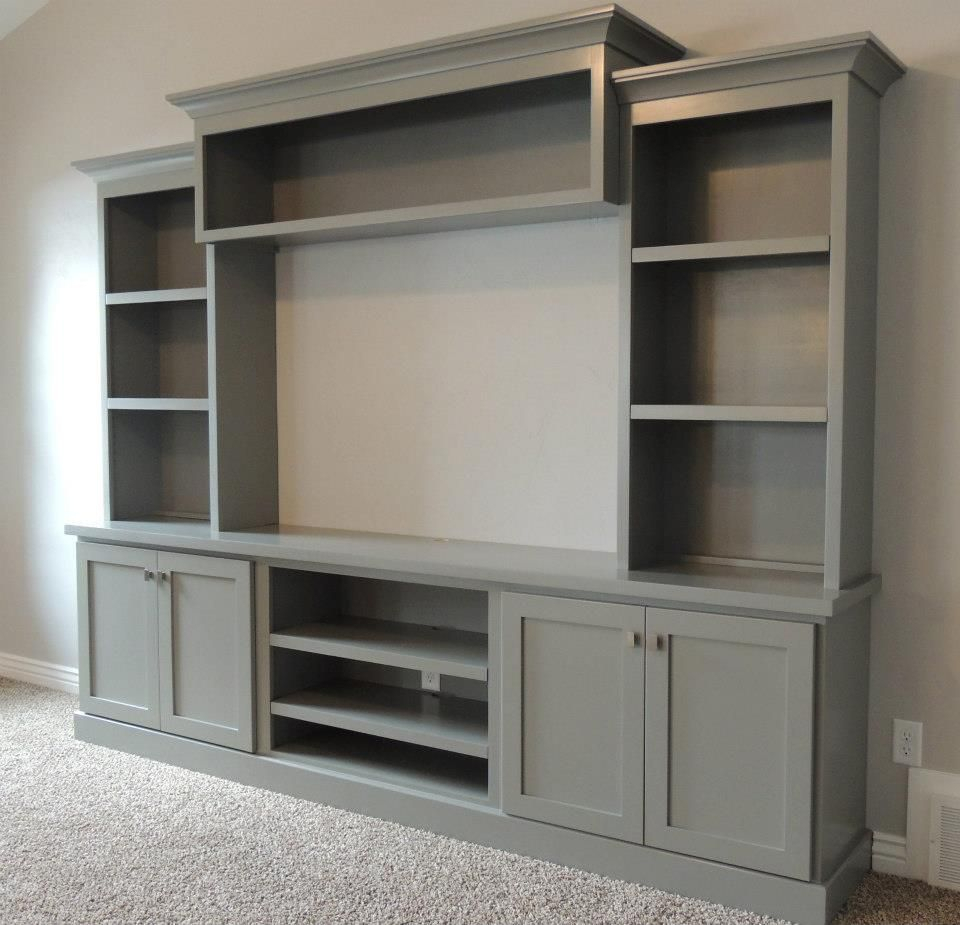 17 Diy Entertainment Center Ideas And Designs For Your New Home Within Casey Grey 74 Inch Tv Stands (View 1 of 30)
