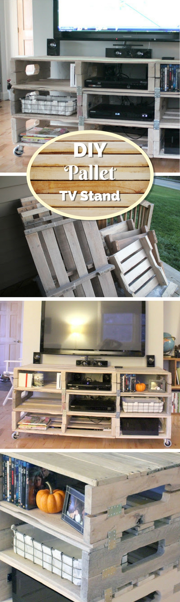21+ Diy Tv Stand Ideas For Your Weekend Home Project Within Tobias Media Console Tables (Photo 21 of 30)