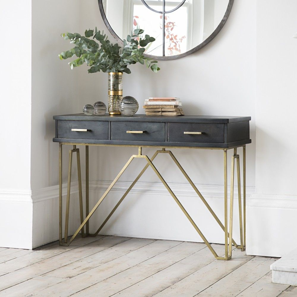 27 Gorgeous Entryway - Entry Table Ideas Designed With Every Style pertaining to Natural Wood Mirrored Media Console Tables (Image 1 of 30)