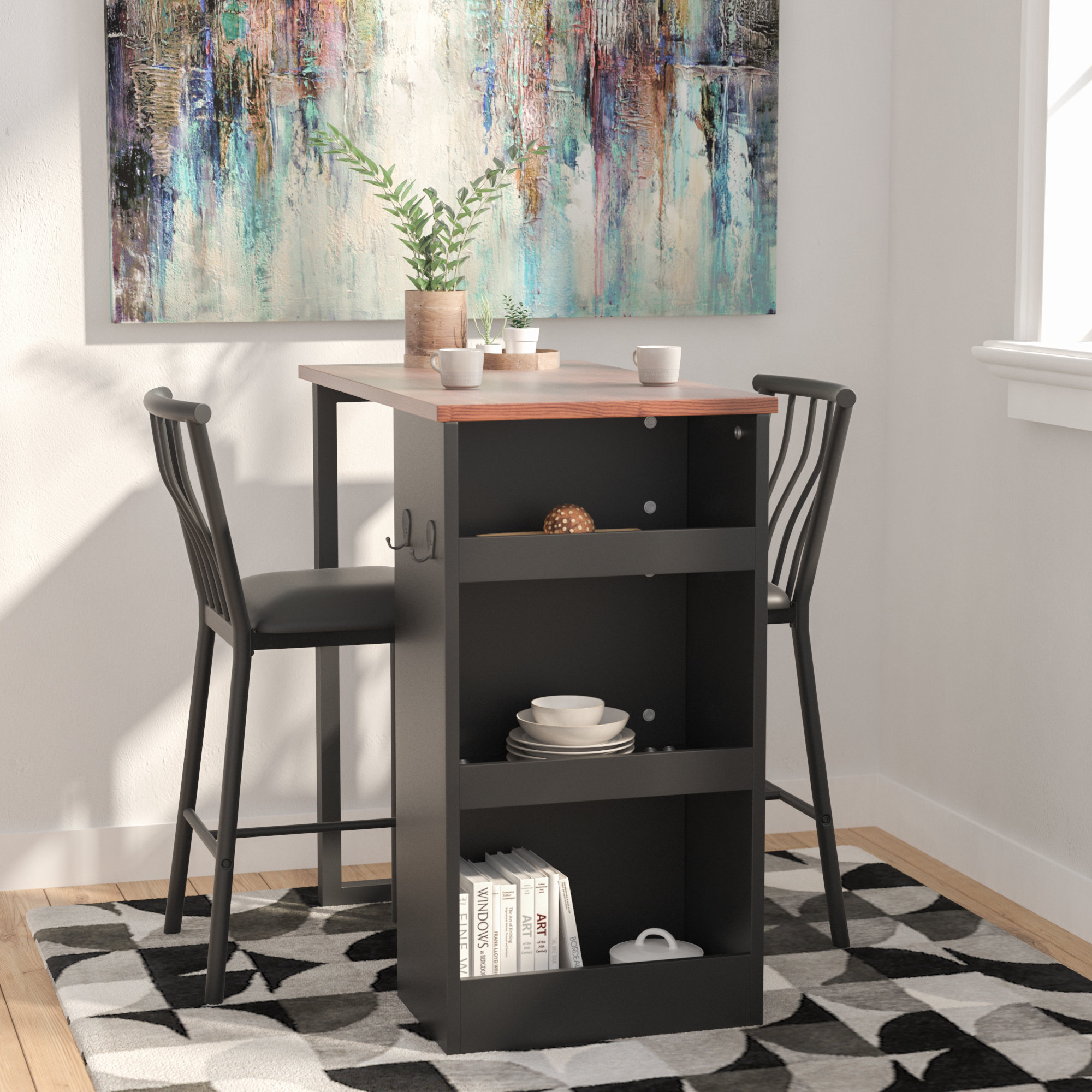 36 Inch Counter Height Table | Wayfair in Parsons Black Marble Top & Stainless Steel Base 48X16 Console Tables (Image 3 of 30)