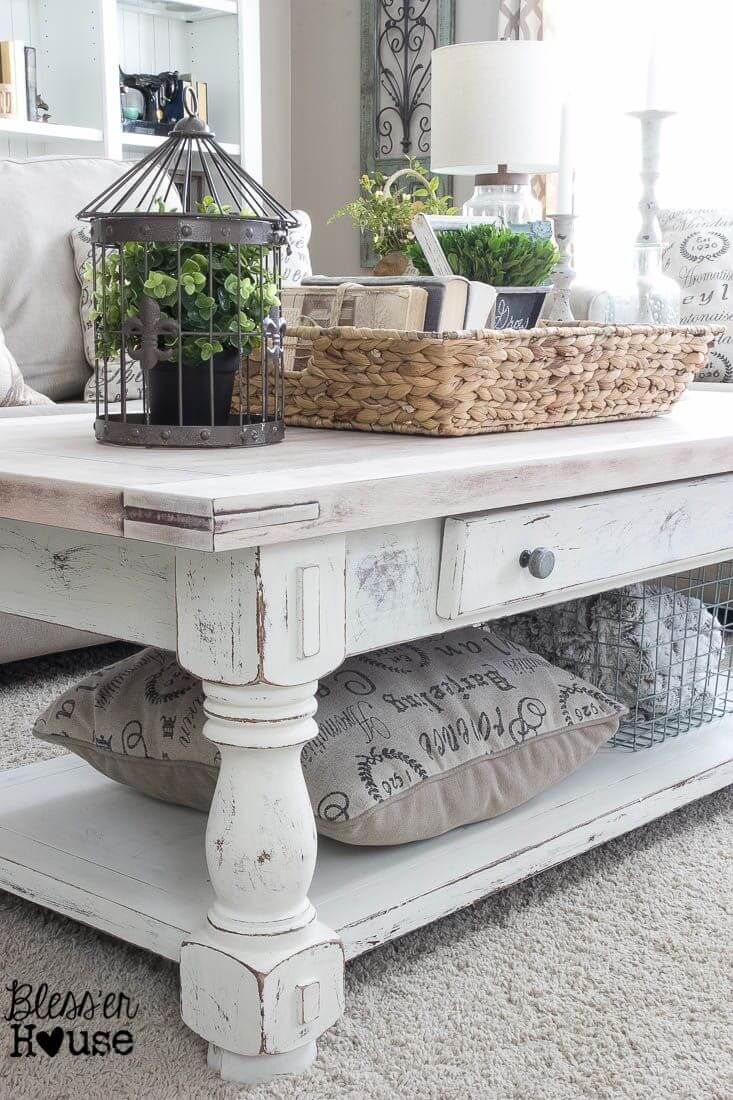 37 Coffee Table Decorating Ideas To Get Your Living Room In Shape In Hand Carved White Wash Console Tables (View 18 of 30)