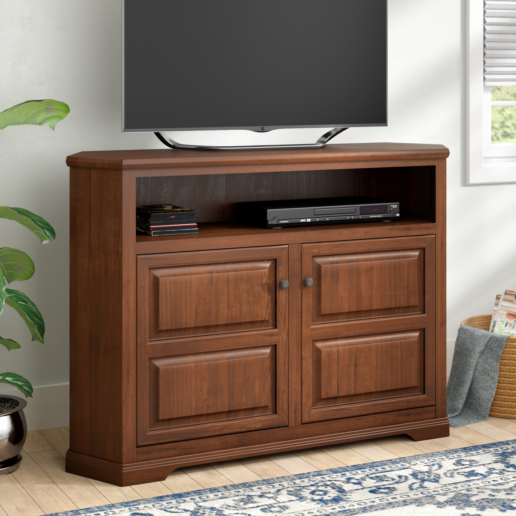 40 49 Inches Tall Tv Stands You'll Love | Wayfair Inside Kenzie 72 Inch Open Display Tv Stands (View 5 of 30)