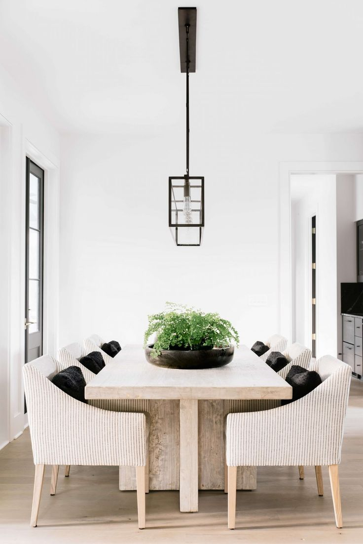 412 Best Dining Room Images On Pinterest   Dining Rooms, Dining Room With Parsons Grey Solid Surface Top & Brass Base 48x16 Console Tables (View 12 of 30)