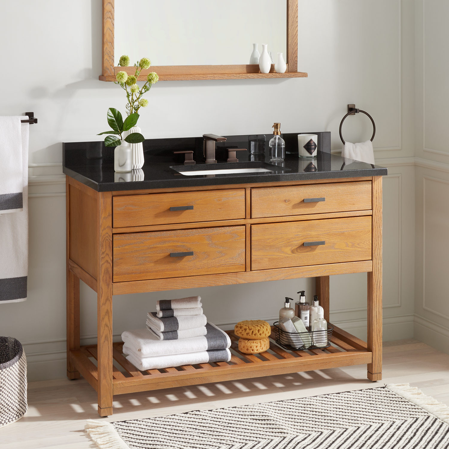 """48"""" Toby Console Vanity For Rectangular Undermount Sink – Bathroom With Regard To Tobias Media Console Tables (View 12 of 30)"""
