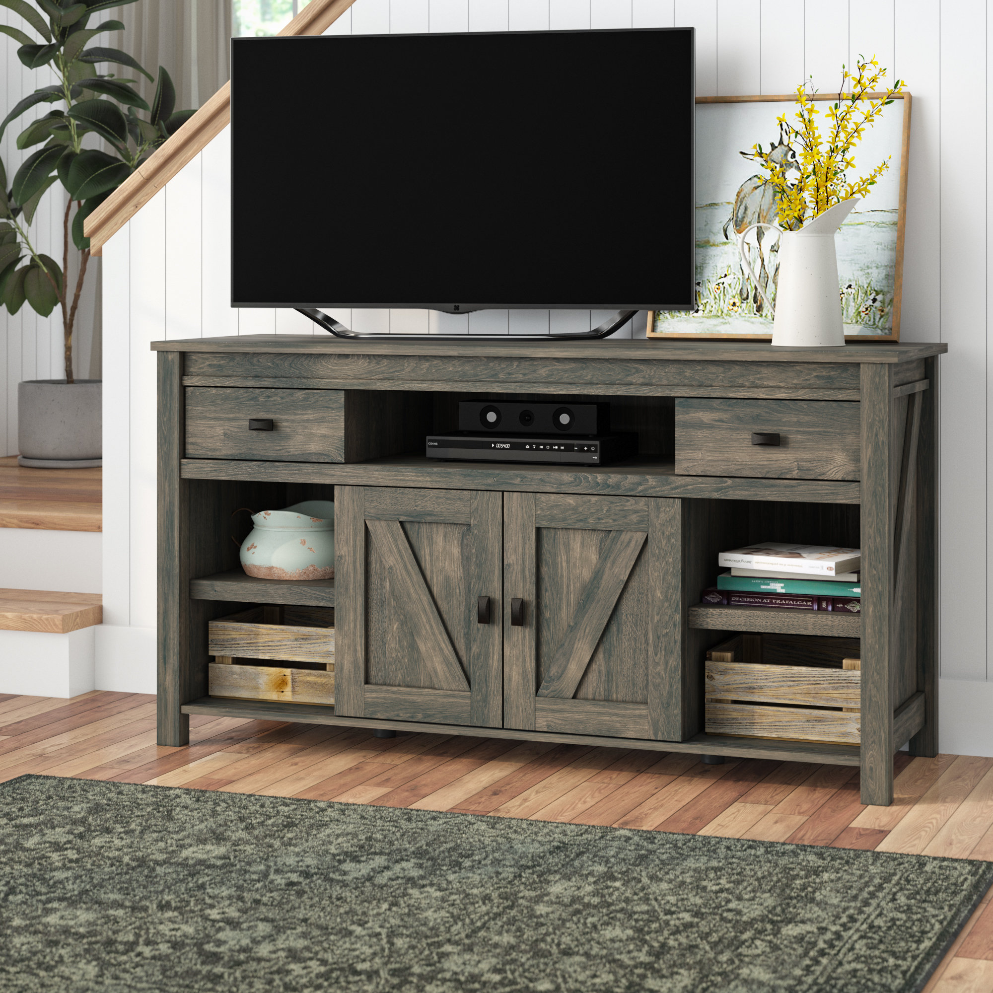 60 64 Inch Tv Stands | Birch Lane In Edwin Black 64 Inch Tv Stands (Photo 2 of 30)