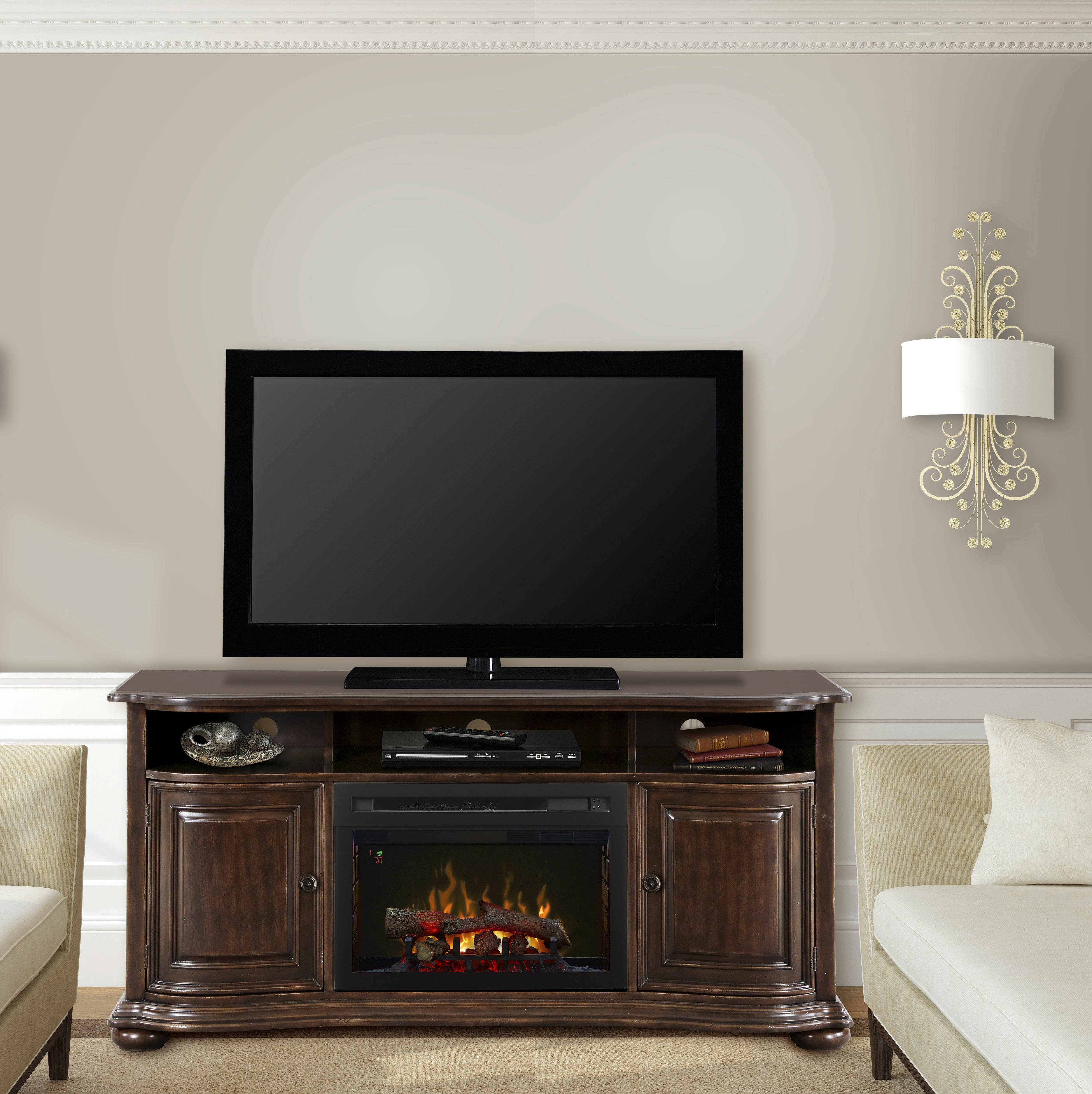 60 69 Inch Tv Stand Fireplaces You'll Love | Wayfair Pertaining To Caden 63 Inch Tv Stands (Photo 6 of 30)