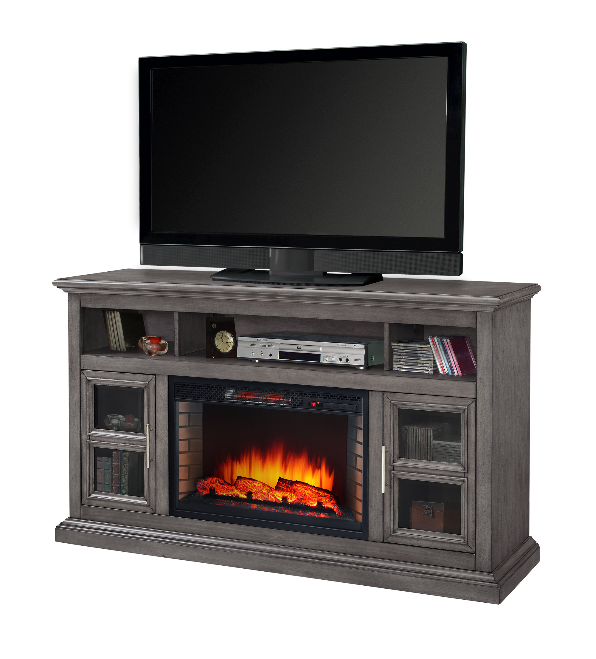 60-69 Inch Tv Stand Fireplaces You'll Love | Wayfair with regard to Caden 63 Inch Tv Stands (Image 3 of 30)