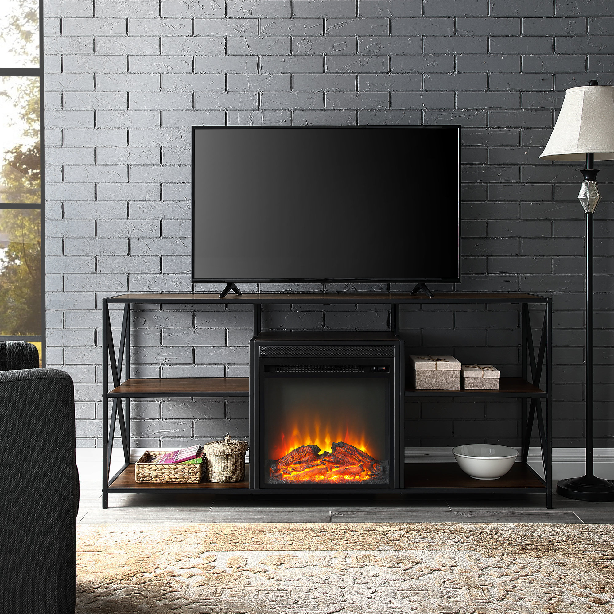 60-69 Inch Tv Stand Fireplaces You'll Love | Wayfair within Caden 63 Inch Tv Stands (Image 5 of 30)