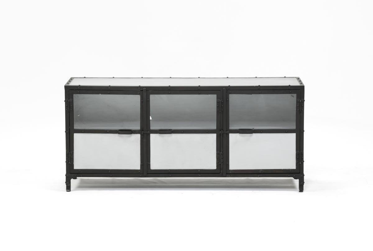60 Inch Metal Console | Living Spaces inside Mayfield Plasma Console Tables (Image 1 of 30)