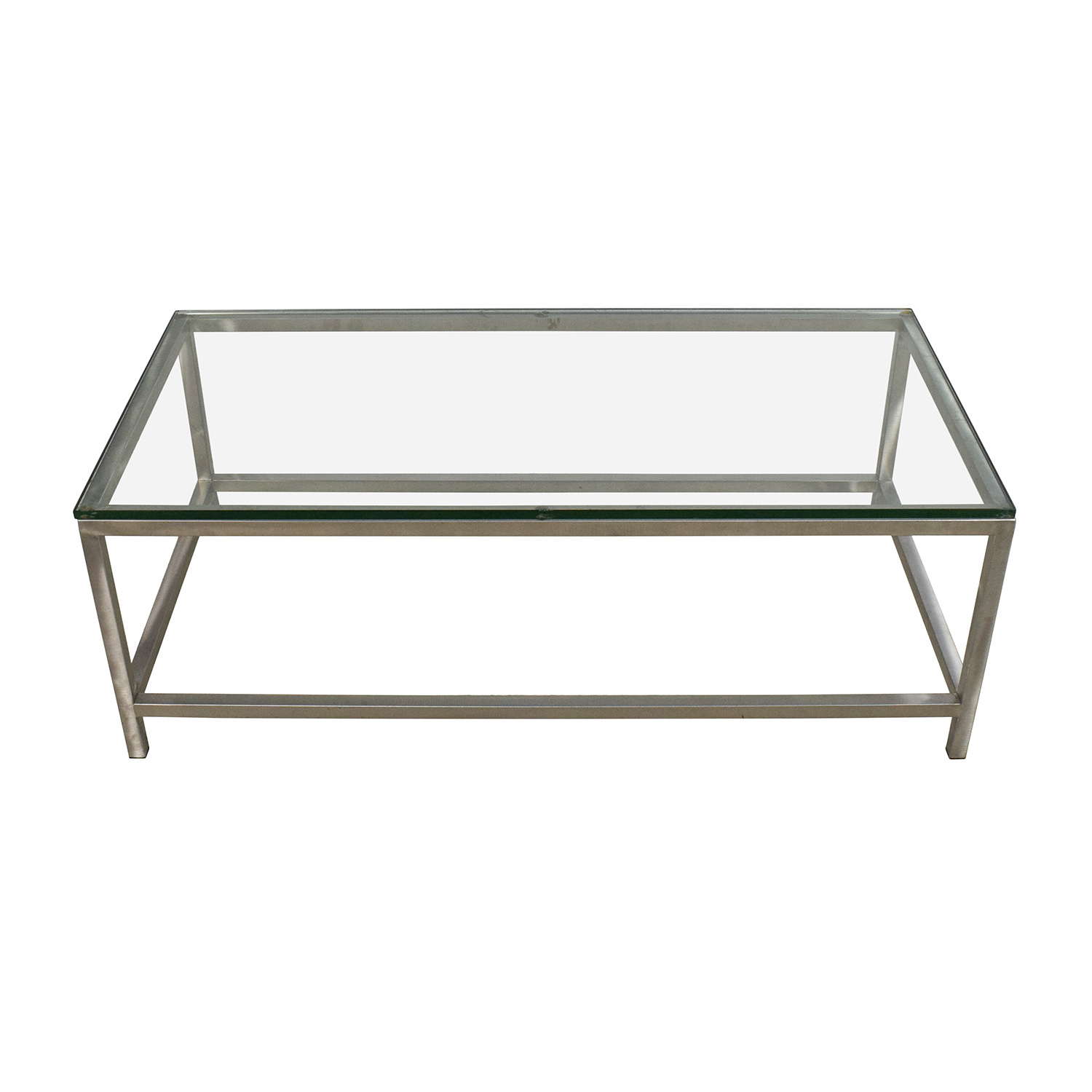 64% Off – Crate And Barrel Crate & Barrel Era Rectangular Glass Top Intended For Era Glass Console Tables (View 21 of 30)