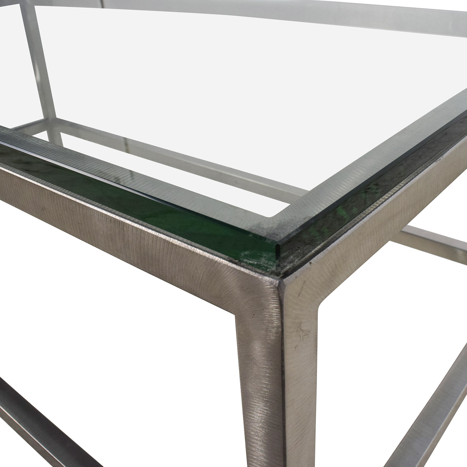 64% Off   Crate And Barrel Crate & Barrel Era Rectangular Glass Top With Regard To Era Glass Console Tables (Photo 27 of 30)