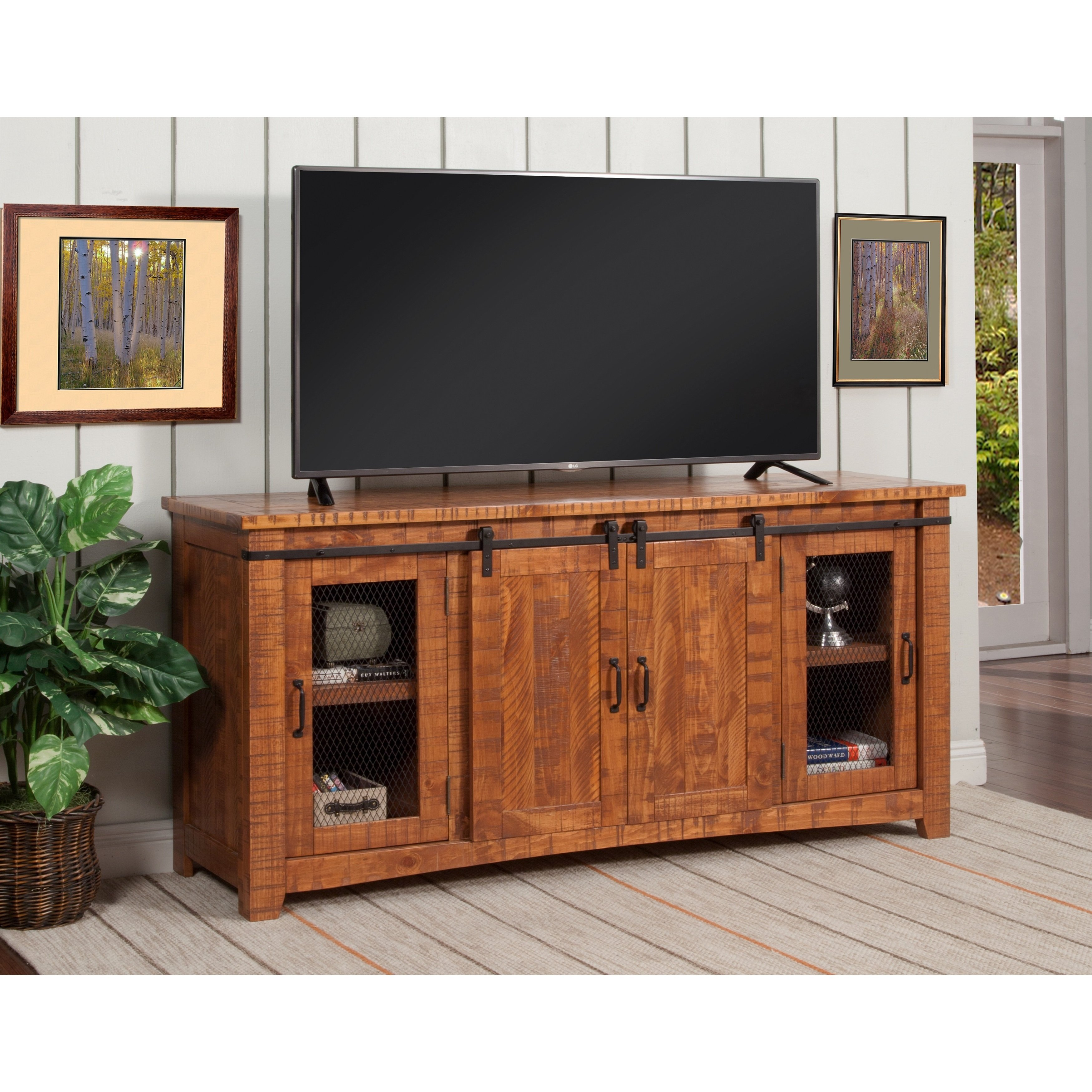 65 Inch Tv Stands Brown | Www.tollebild in Melrose Barnhouse Brown 65 Inch Lowboy Tv Stands (Image 9 of 30)