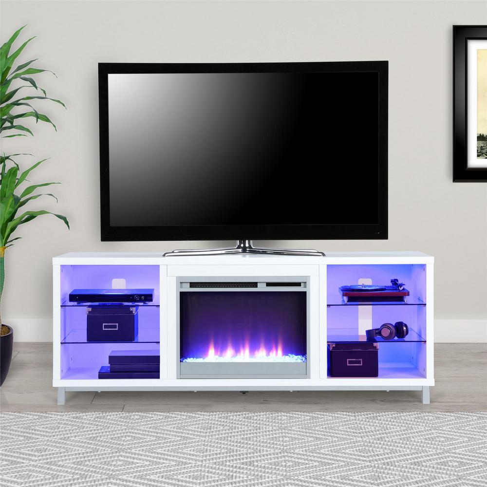 70 In. Cleavland Gray Tv Stand Hd80146   The Home Depot In Kenzie 60 Inch Open Display Tv Stands (Photo 19 of 30)