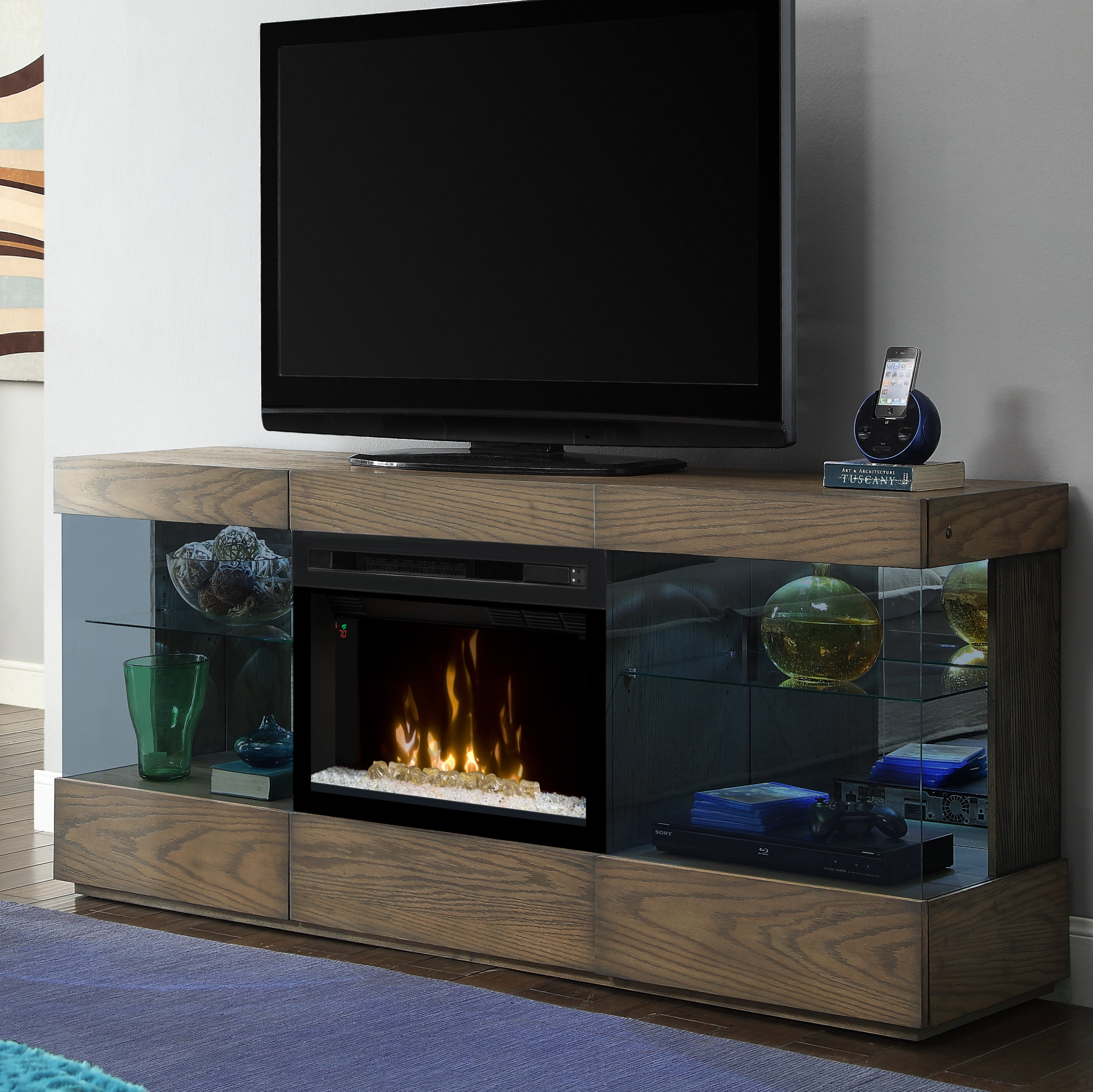 70 Inch And Larger Fireplace Tv Stands You'll Love | Wayfair inside Wyatt 68 Inch Tv Stands (Image 1 of 30)