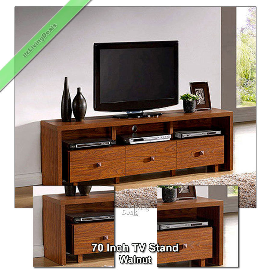 70 Inch Tv Stand Entertainment Media Console Table Stands Console Regarding Annabelle Black 70 Inch Tv Stands (Photo 8 of 30)