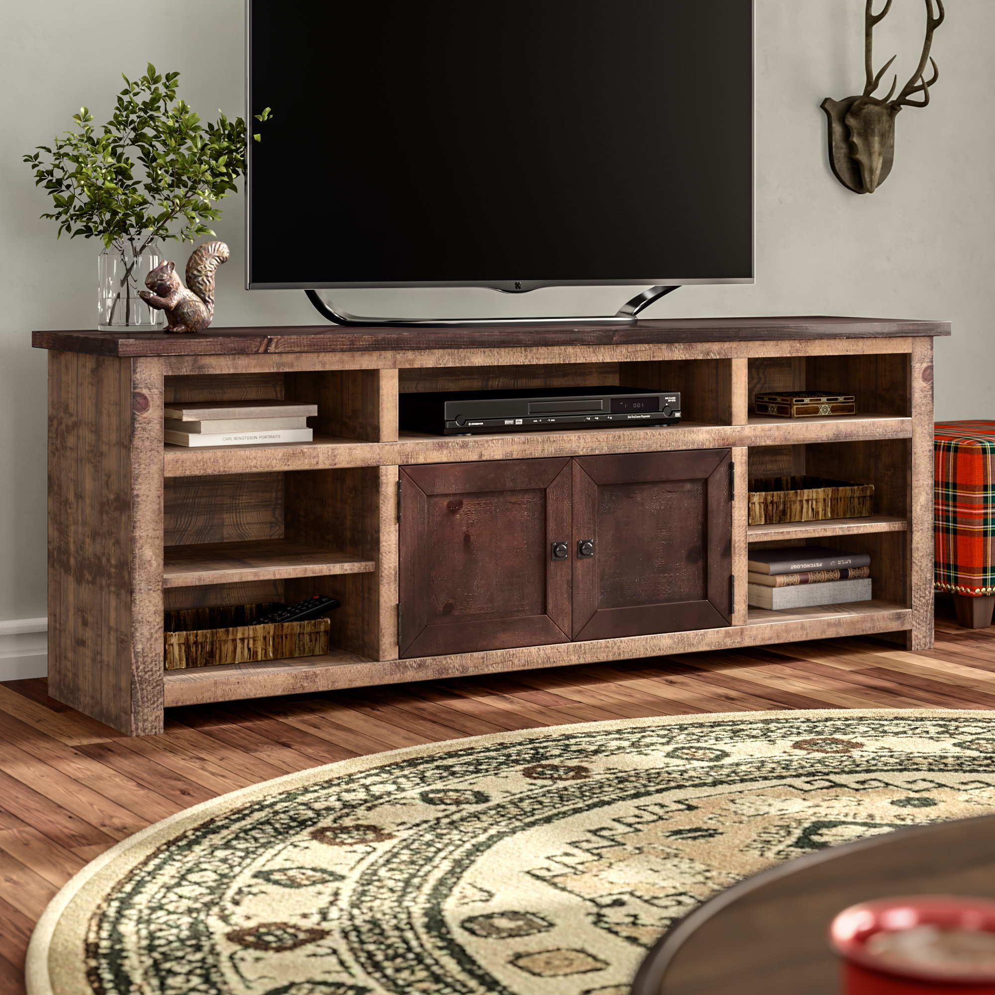 70 Inch Tv Stands | Joss & Main regarding Walton 74 Inch Open Tv Stands (Image 4 of 30)